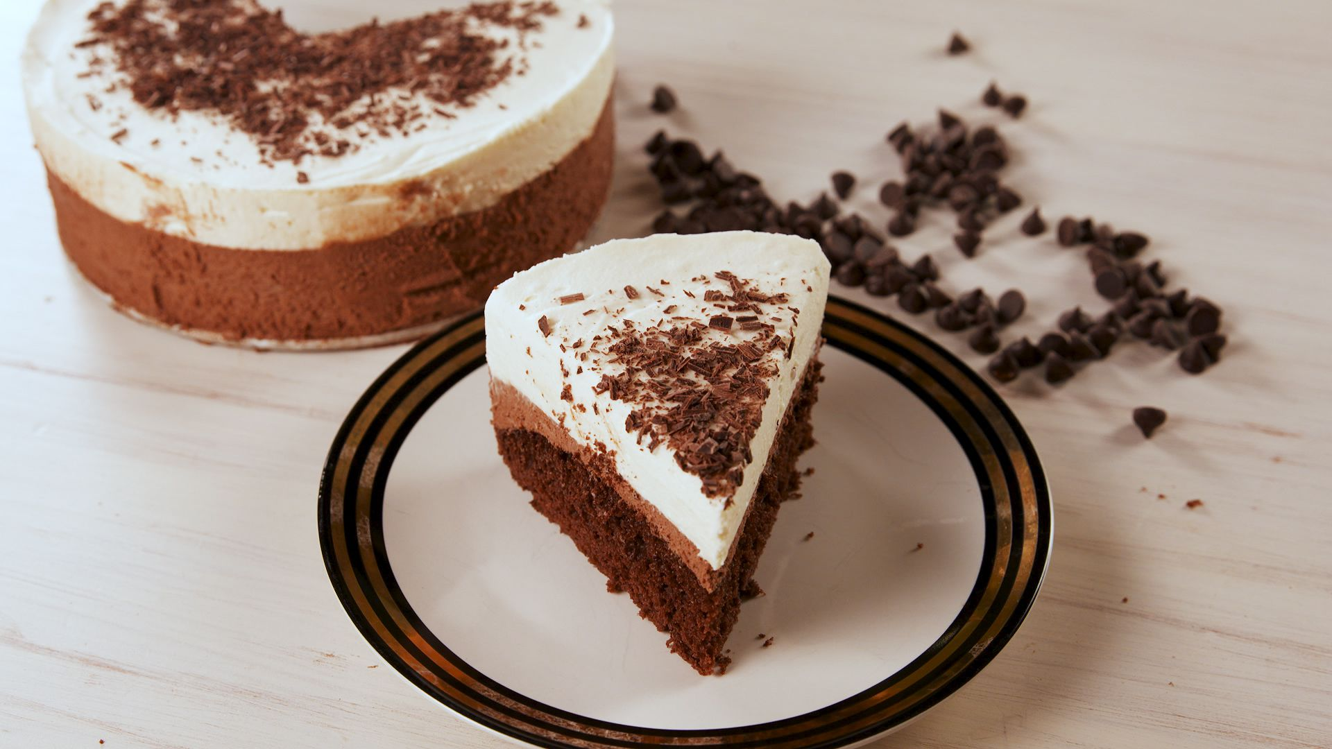 Best Triple Chocolate Mousse Cake Recipe - How to Make Triple ...