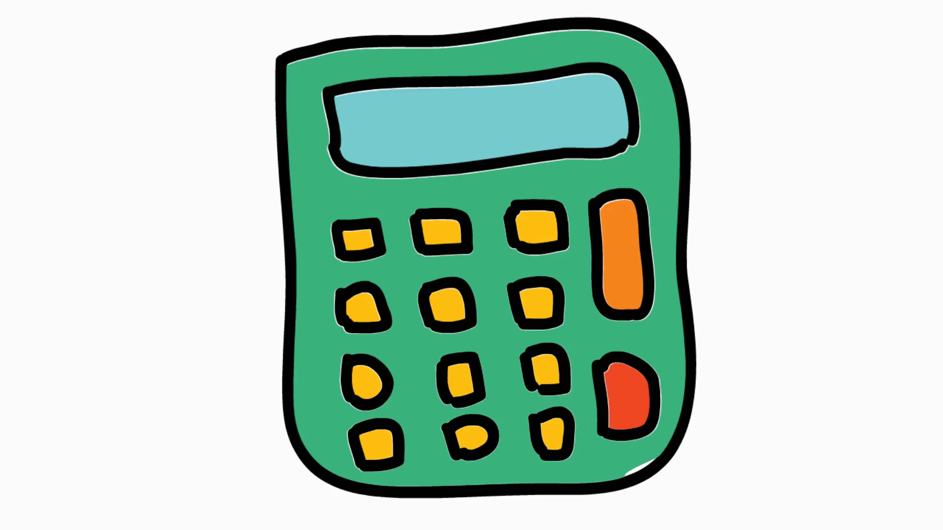 calculator office animation with transparent background Motion ...