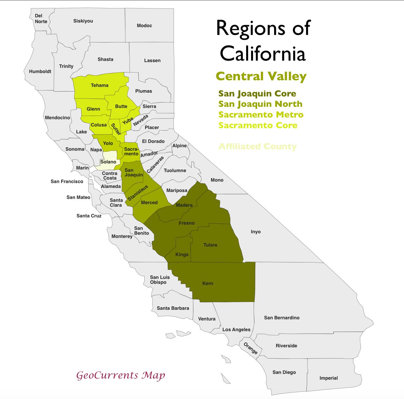 The Regionalization of California, Part 2 | GeoCurrents