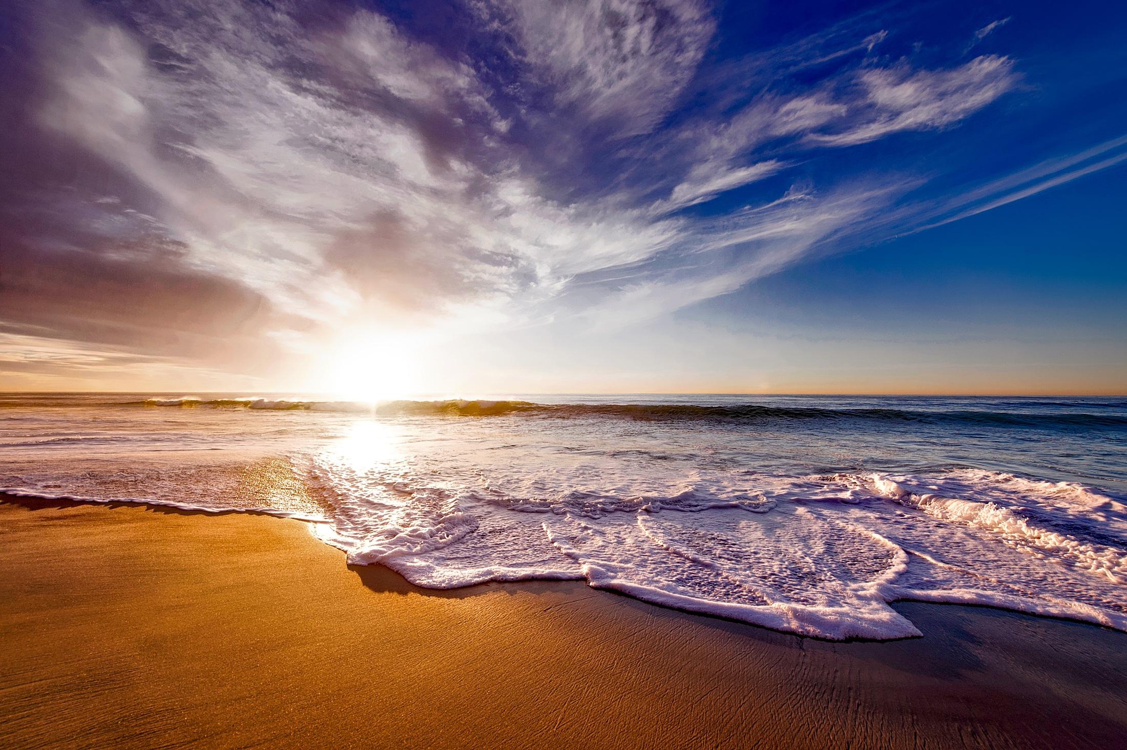California Beach, Beach, Blue, California, Flow, HQ Photo