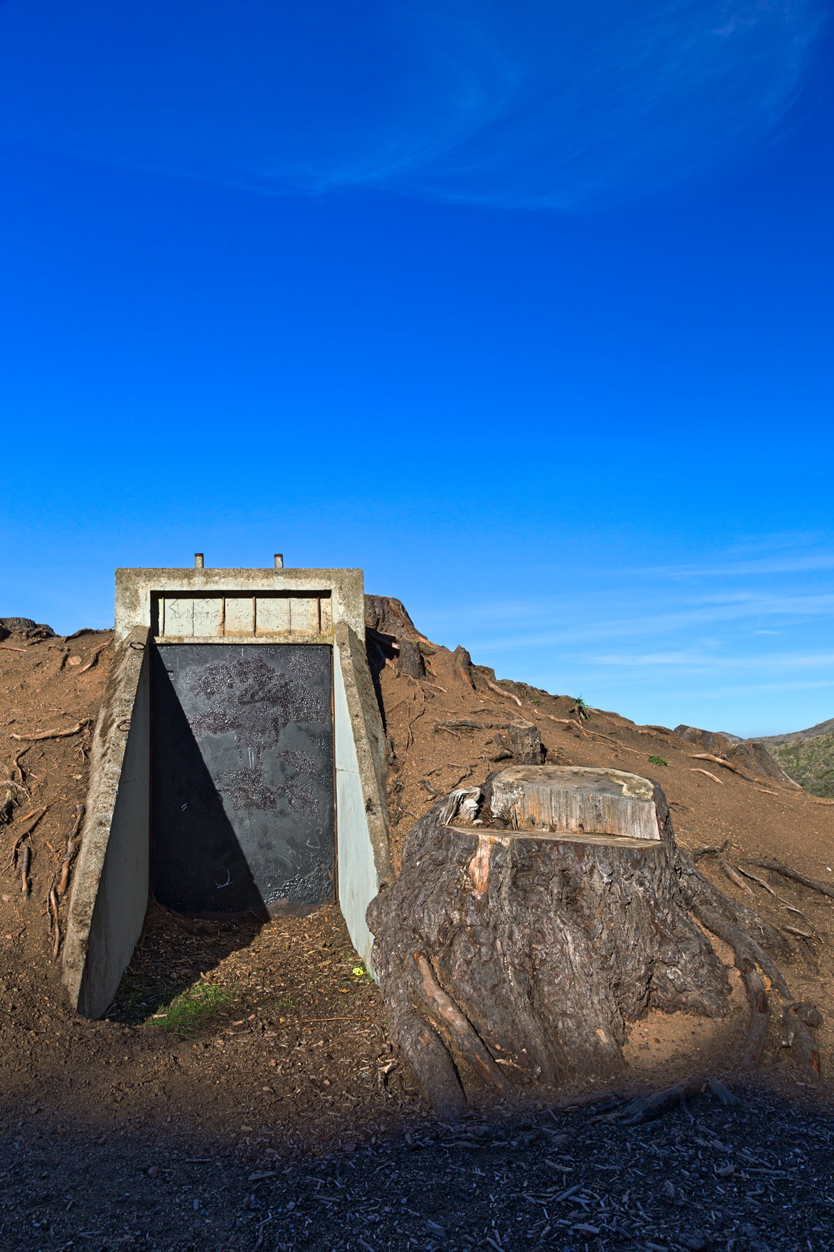 California war bunker - hdr photo