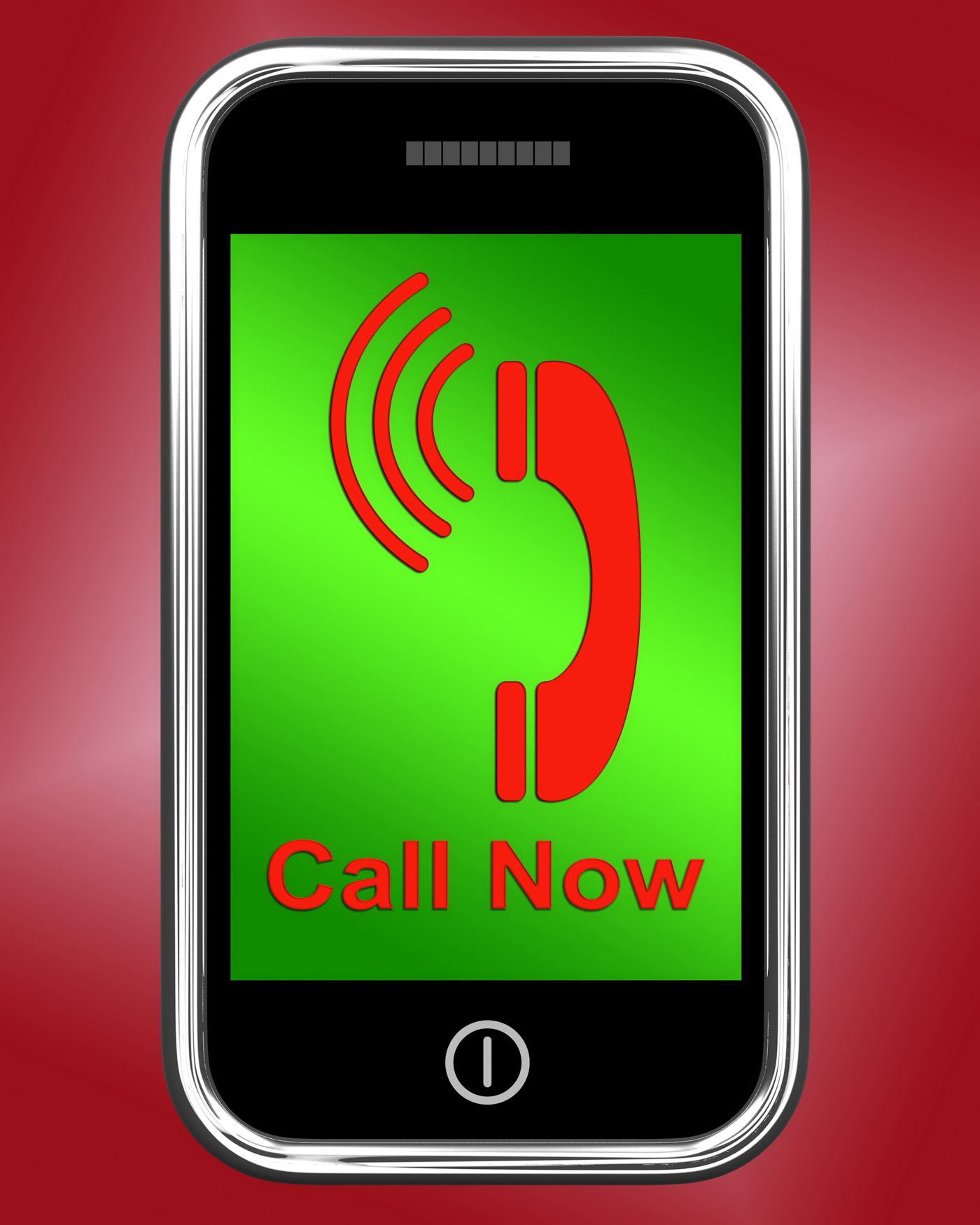 Call now on phone shows talk or chat photo