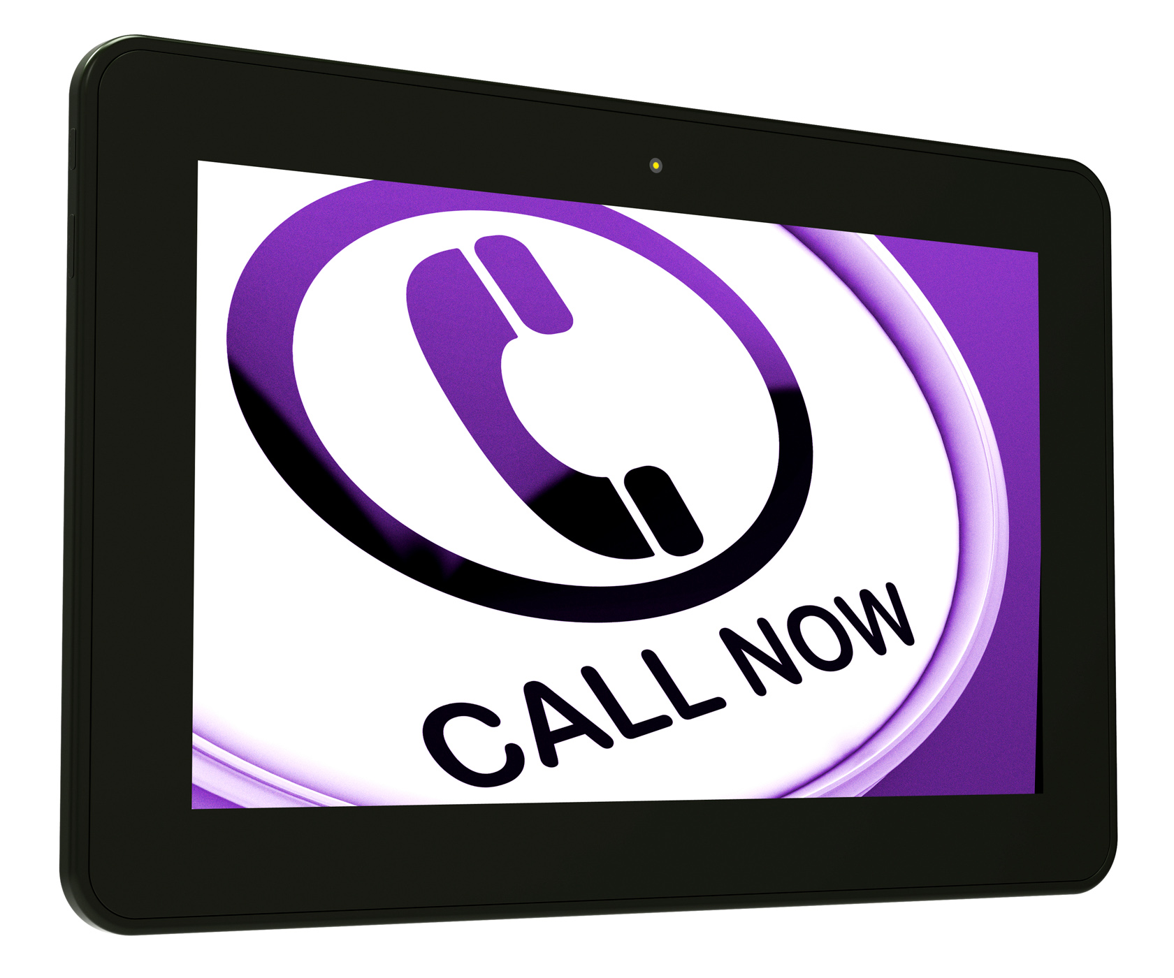 Call Now Tablet Shows Talk or Chat, Button, Skype, Typing, Type, HQ Photo