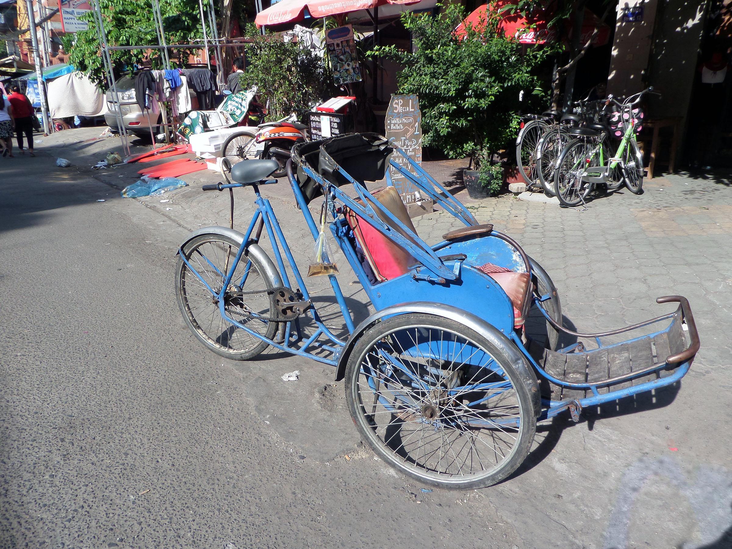 Cambodian cyclo, Cambodia, City, Cycle, Cyclo, HQ Photo