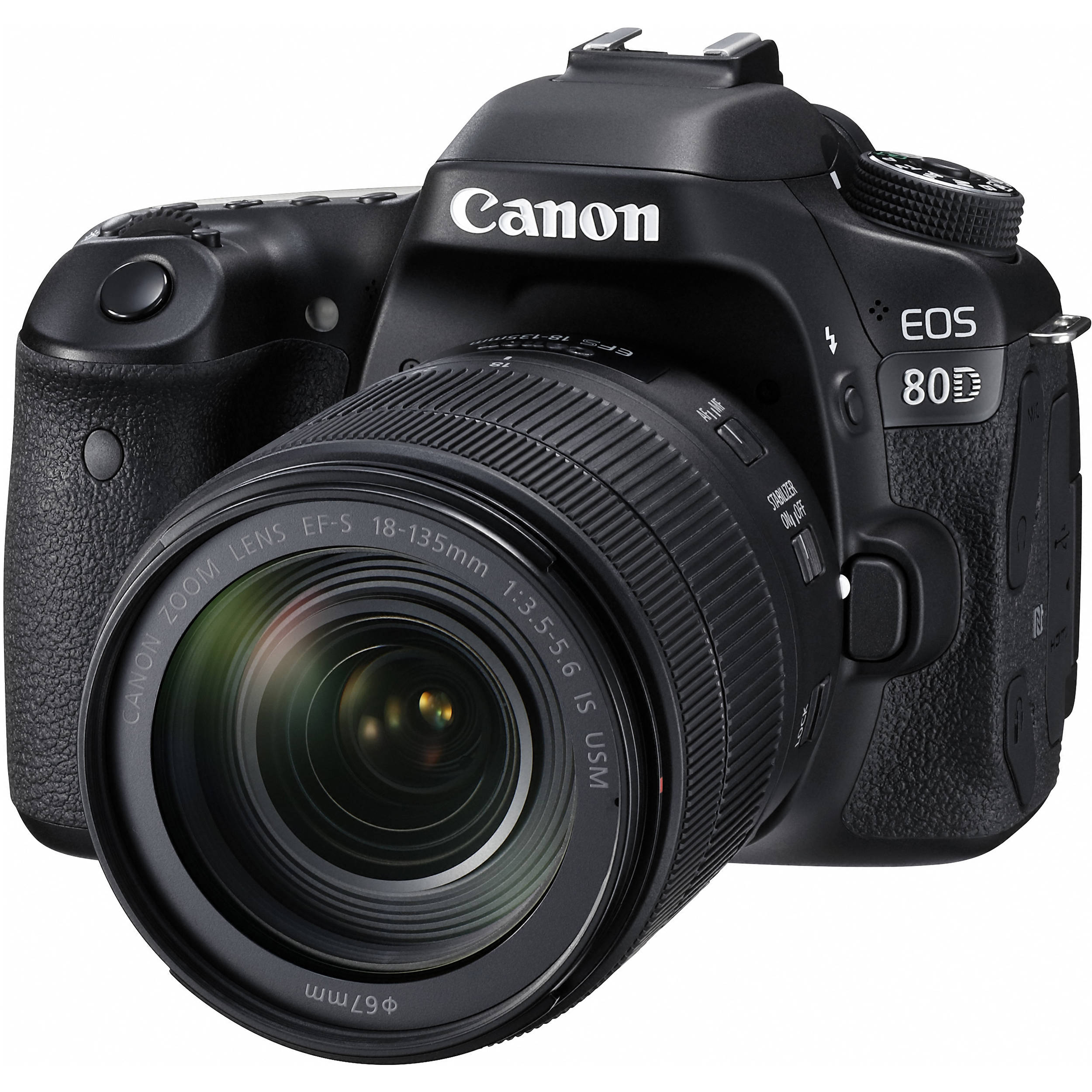 Canon EOS 80D DSLR Camera with 18-135mm Lens 1263C006 B&H Photo