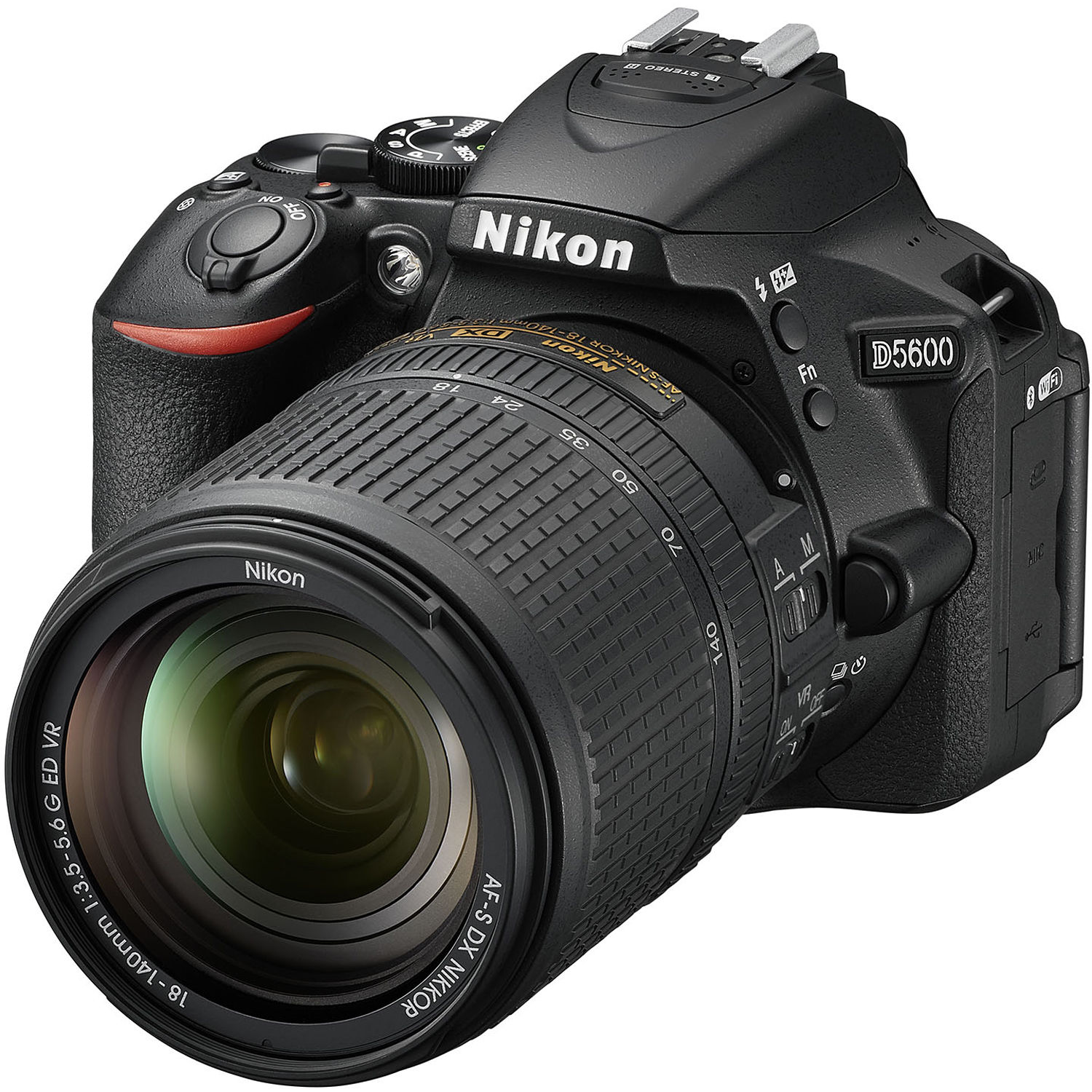 Nikon D5600 DSLR Camera with 18-140mm Lens 1577 B&H Photo Video