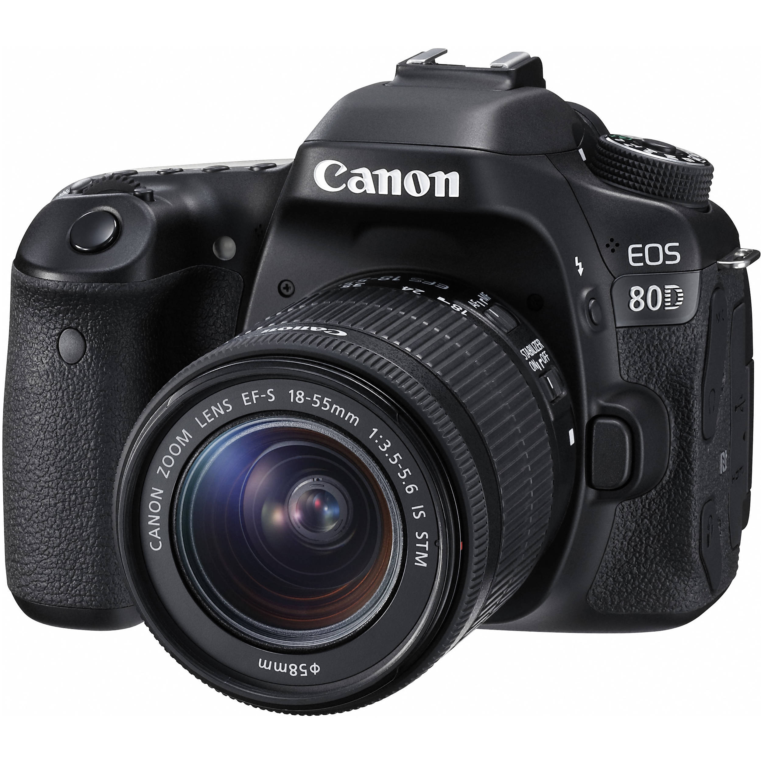 Canon EOS 80D DSLR Camera with 18-55mm Lens 1263C005 B&H Photo