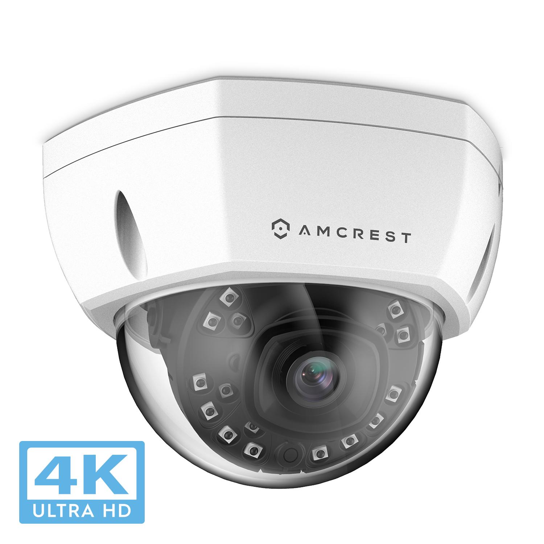 Amcrest UltraHD 4K (8MP) Dome POE IP Camera Security, 3840x2160 ...