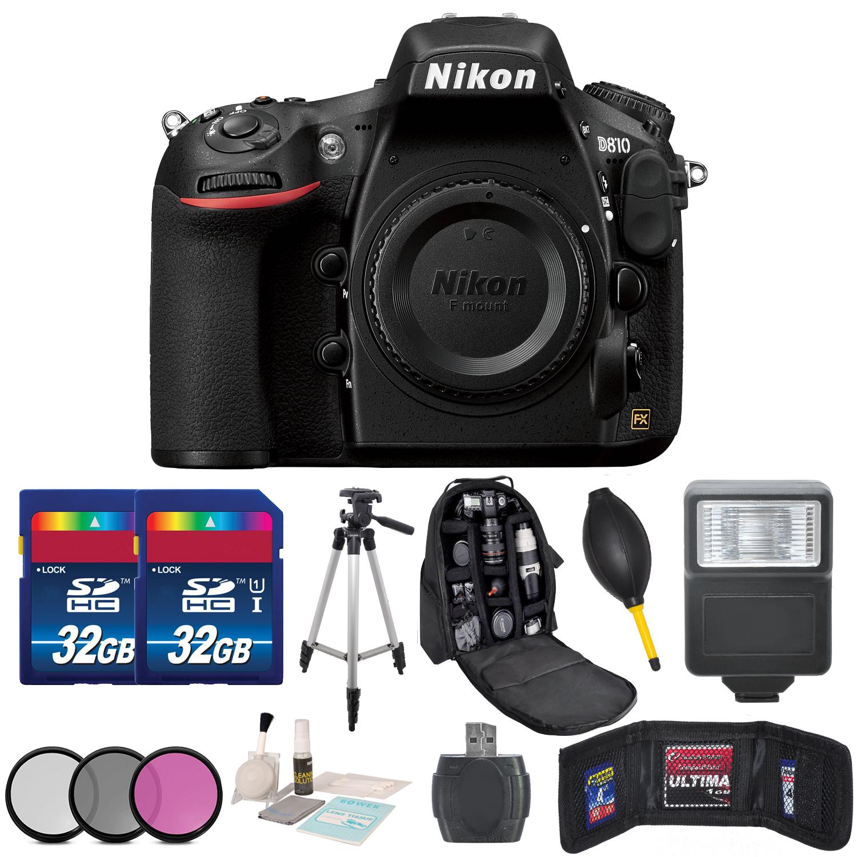 Nikon D810 DSLR Camera Kit + Body + Accessory 64GB Bundle