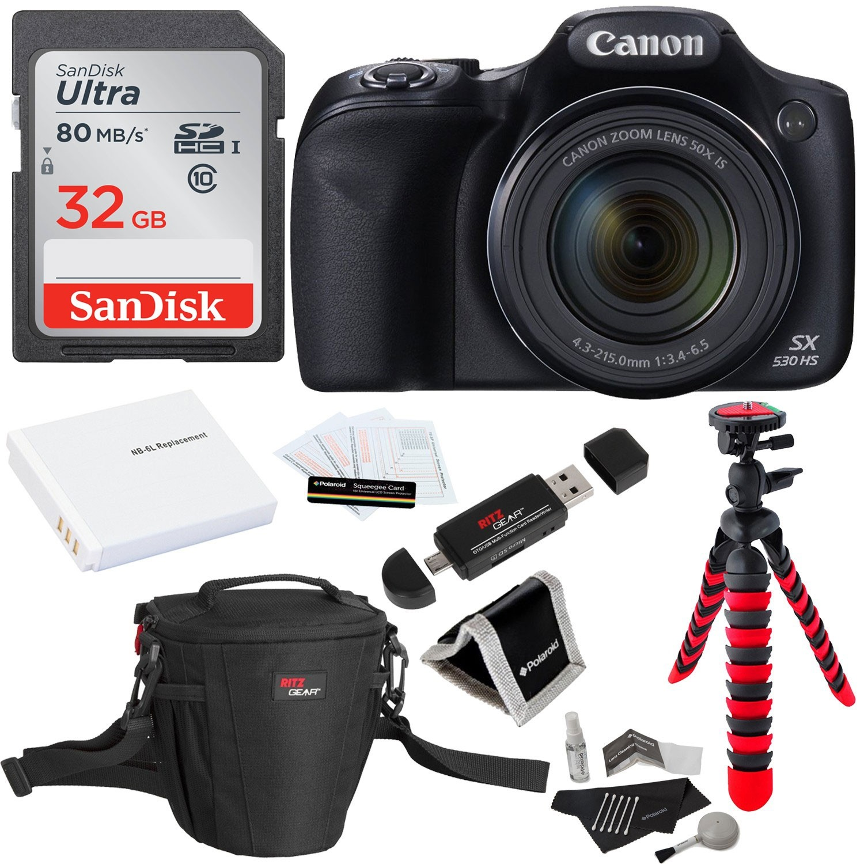 Canon PowerShot SX530 HS 16MP 50X Zoom Digital Camera Kit - 9779B001 ...