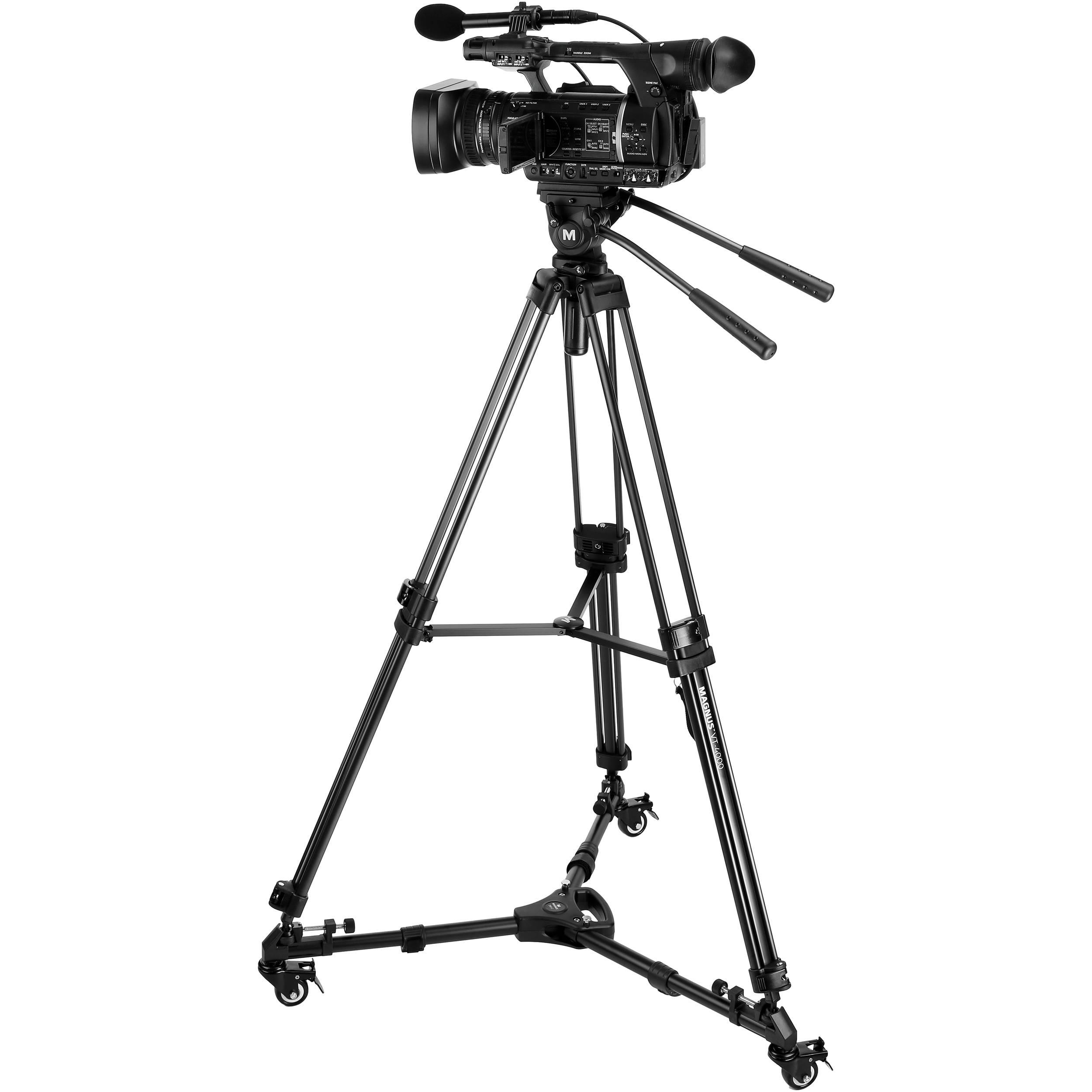 Magnus VT-4000 Tripod System Kit with Fluid Video VT-4000-K3 B&H