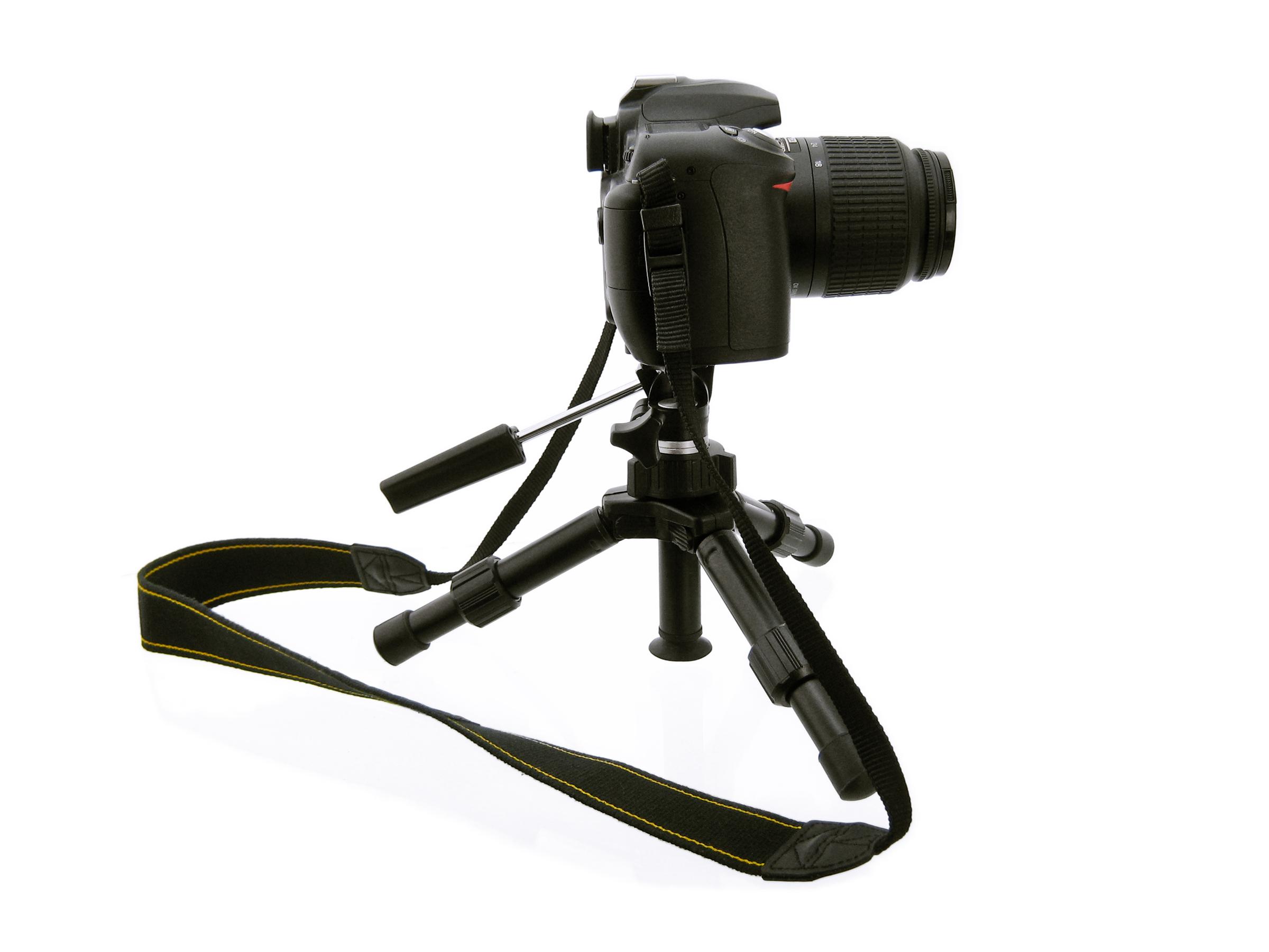 Camera on Tripod, Black, Photo, Technology, Stability, HQ Photo