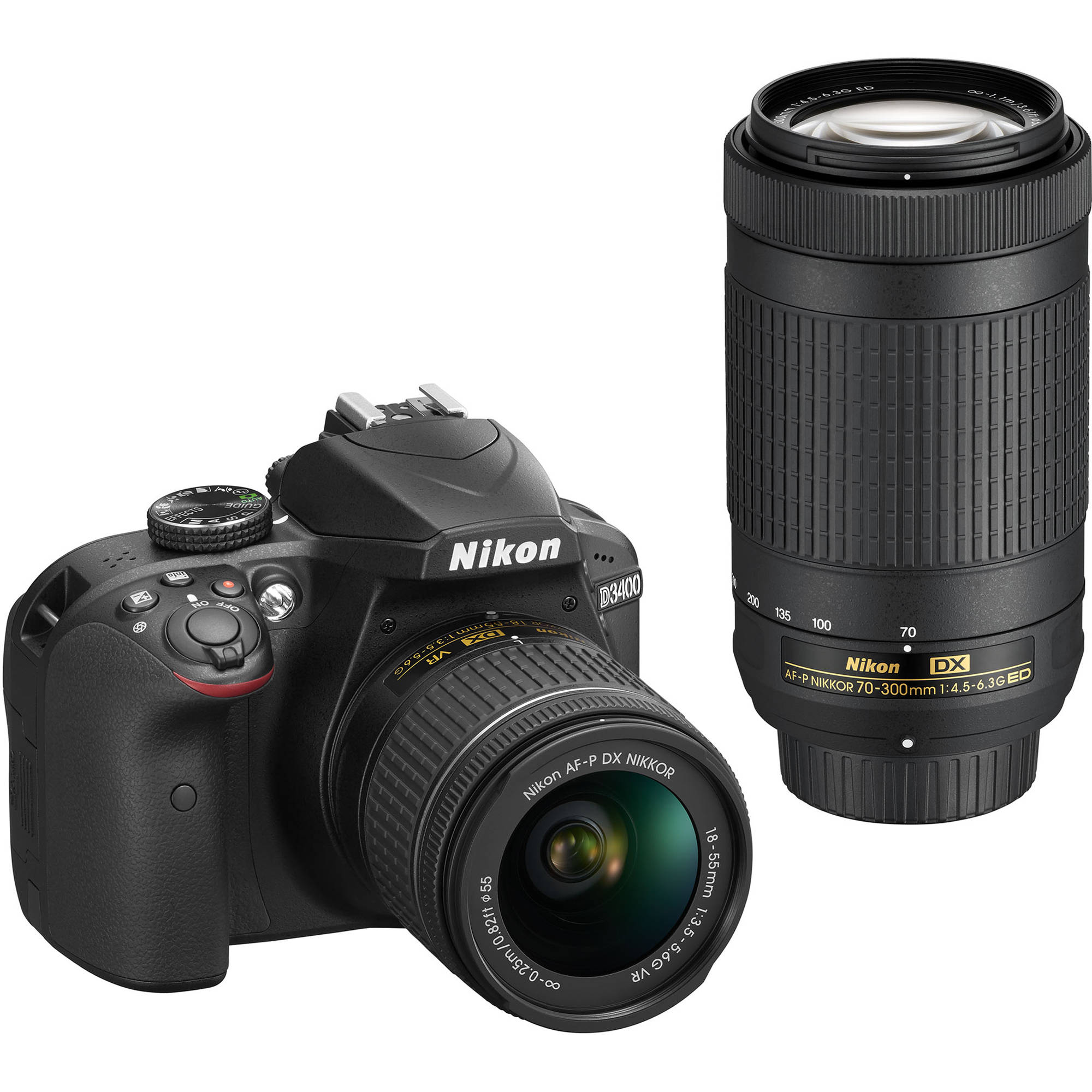 Nikon D3400 DSLR Camera with 18-55mm and 70-300mm Lenses 1573B