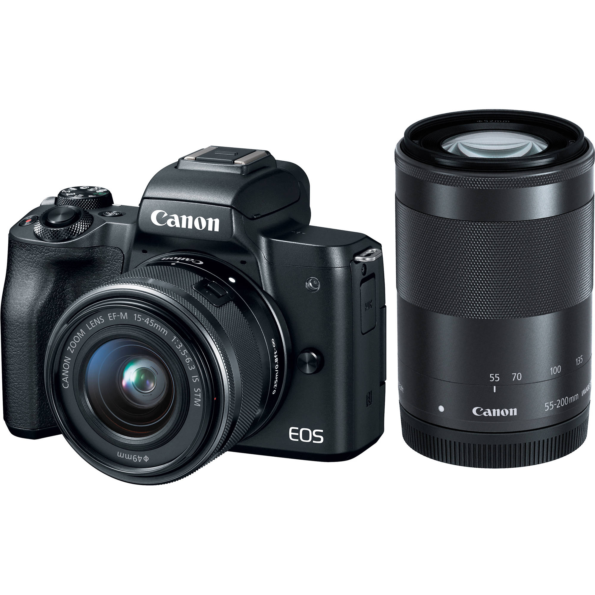 Canon EOS M50 Mirrorless Digital Camera with 15-45mm 2680C021