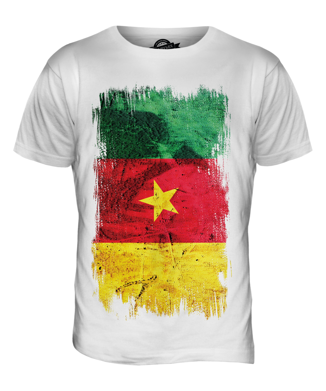 CAMEROON GRUNGE FLAG MENS T-SHIRT TEE TOP CAMEROUN FOOTBALL ...