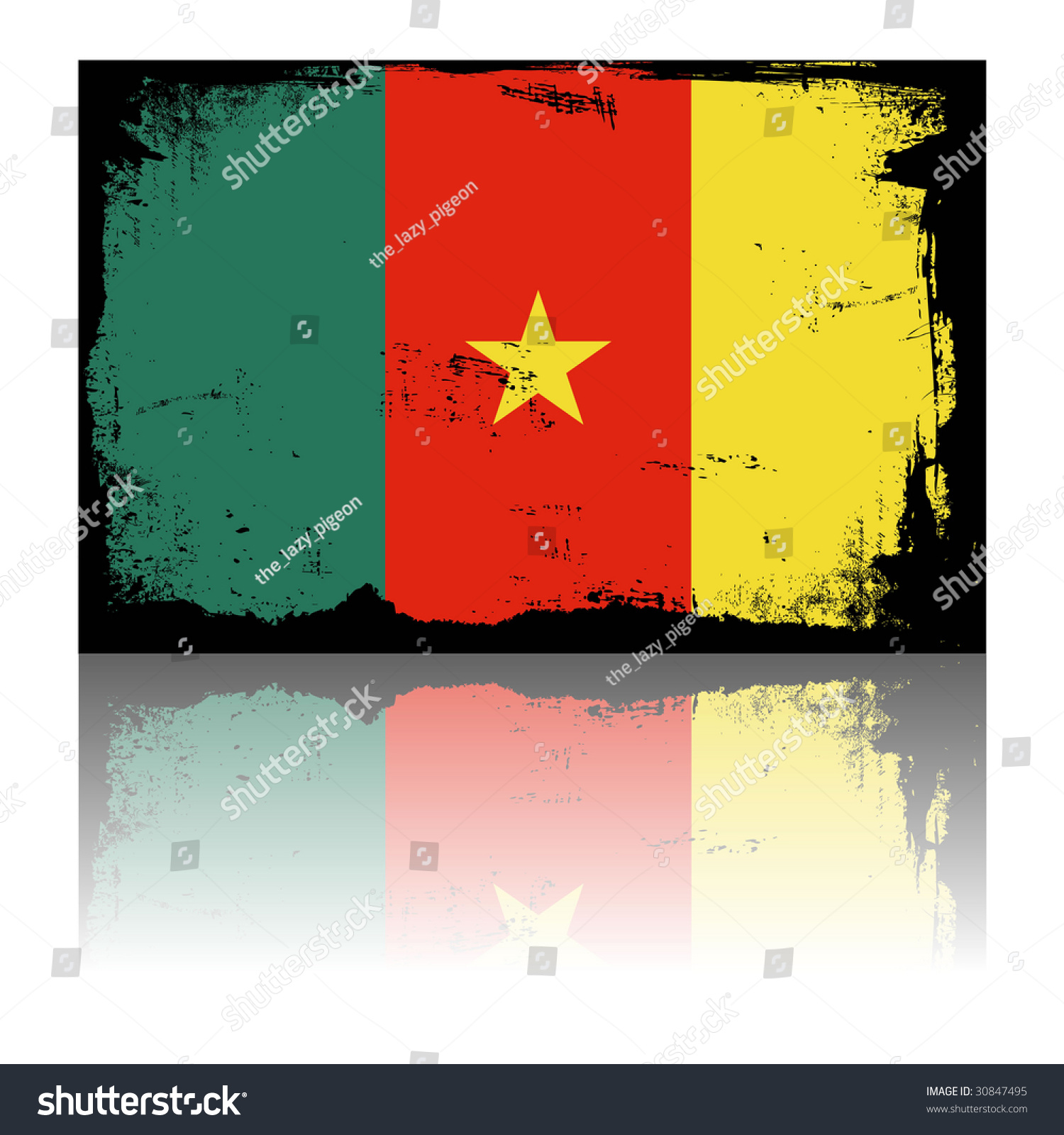 Cameroon Grunge Flag Shadow Stock Illustration 30847495 - Shutterstock