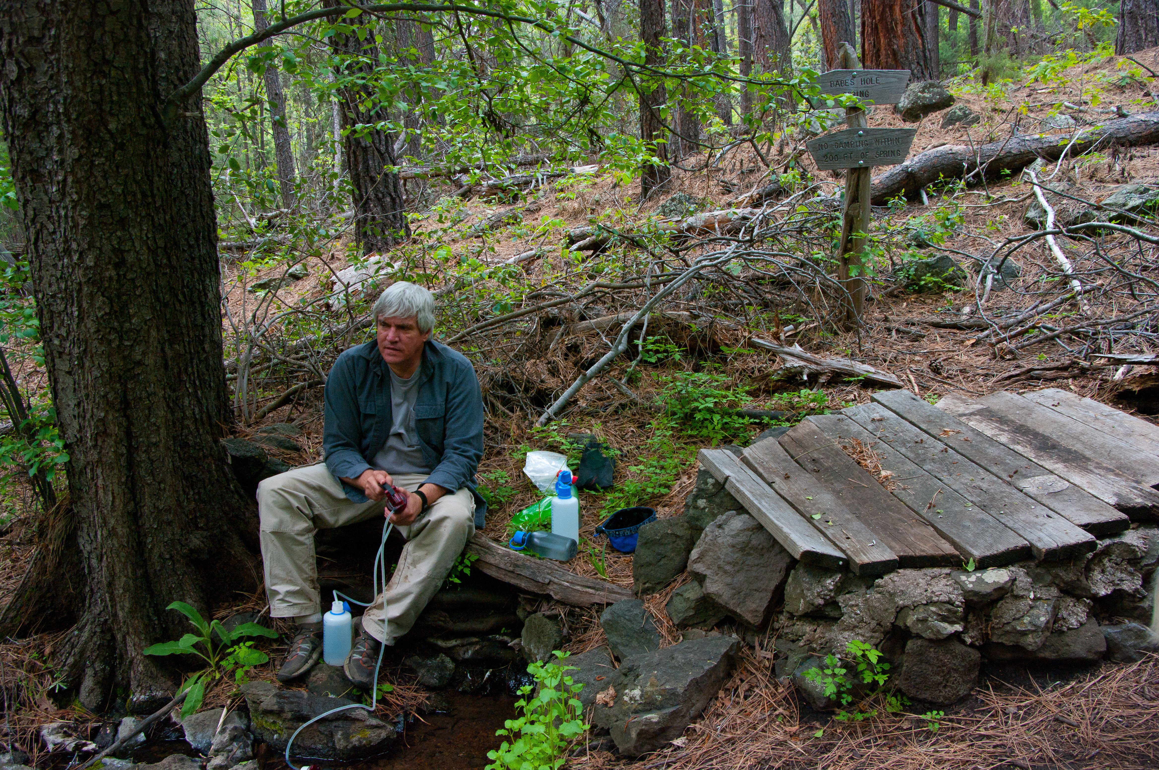 Camp at Babes Hole, Arizona, Backpacking, Camping, Coconino National Forest, HQ Photo