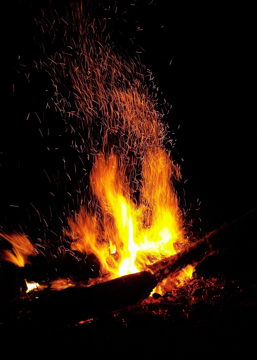 Campfire, Abstract, Fire, Wood, Warmth, HQ Photo