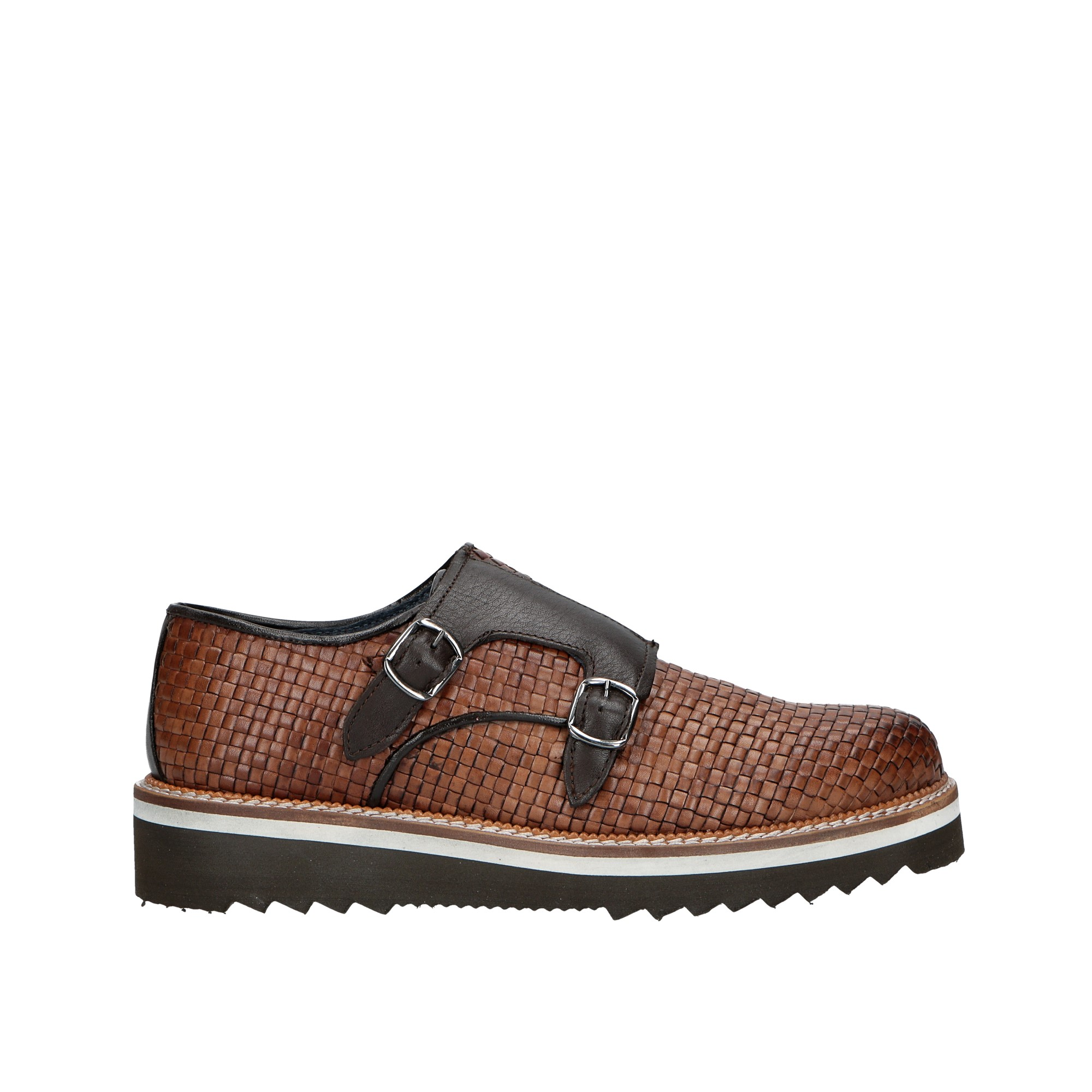 Campo neutro - braided leather shoe with flap: online sale on Claros ...