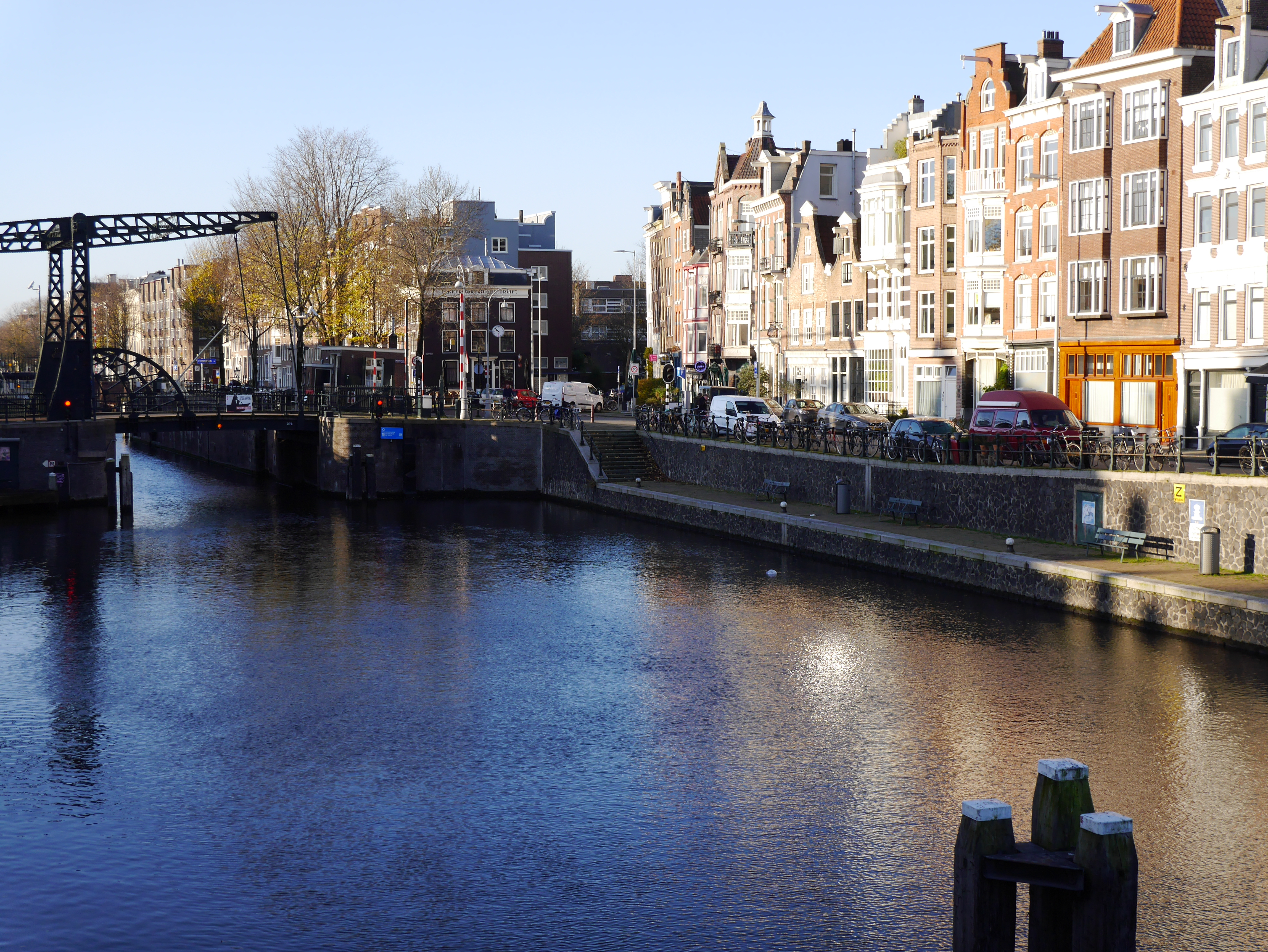 Cana water in sunlight and shadow reflections, Amsterdam city., Cana water in sunlight and shadow reflections, Amsterdam city.