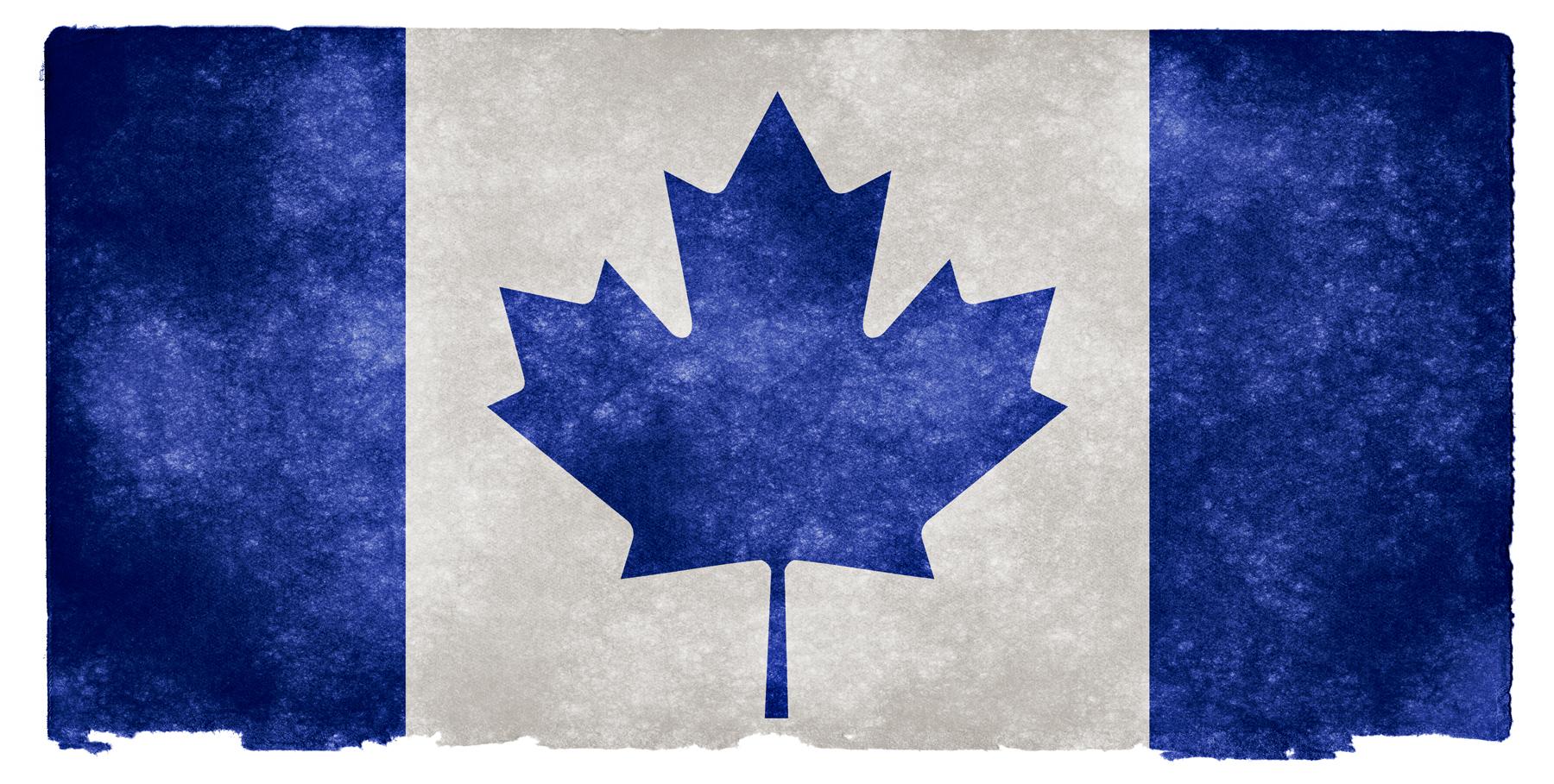 Canada grunge flag - blue photo