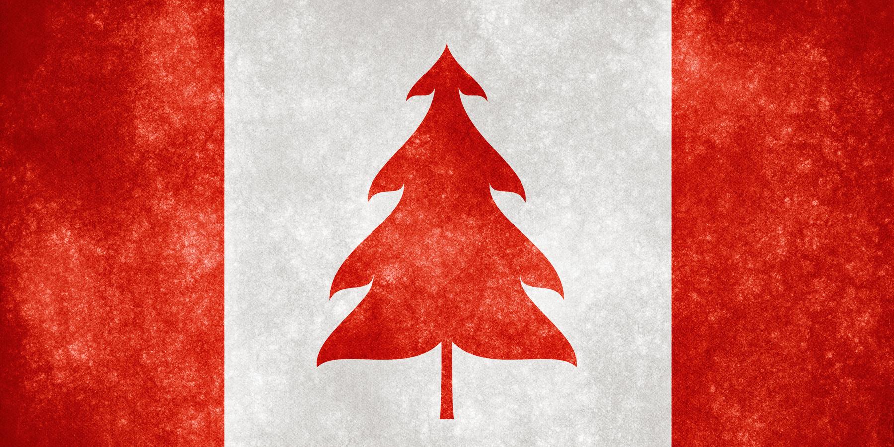 Canada grunge flag - christmas tree photo