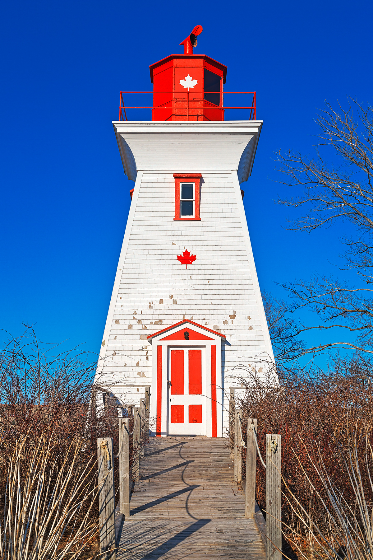 Canadian Lighthouse - HDR, Age, Pathway, S, Rustic, HQ Photo