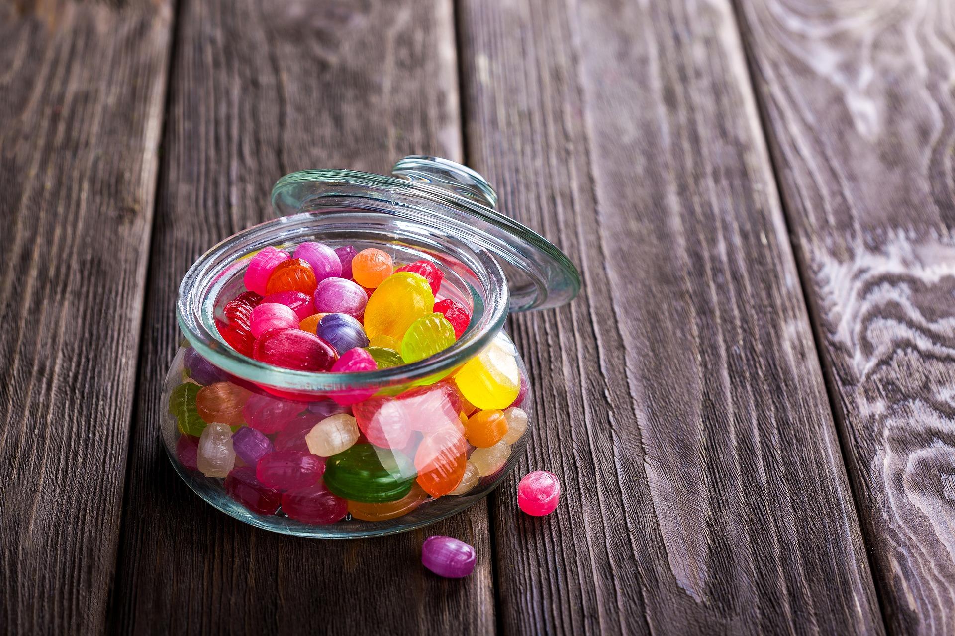 Candies in a jar photo