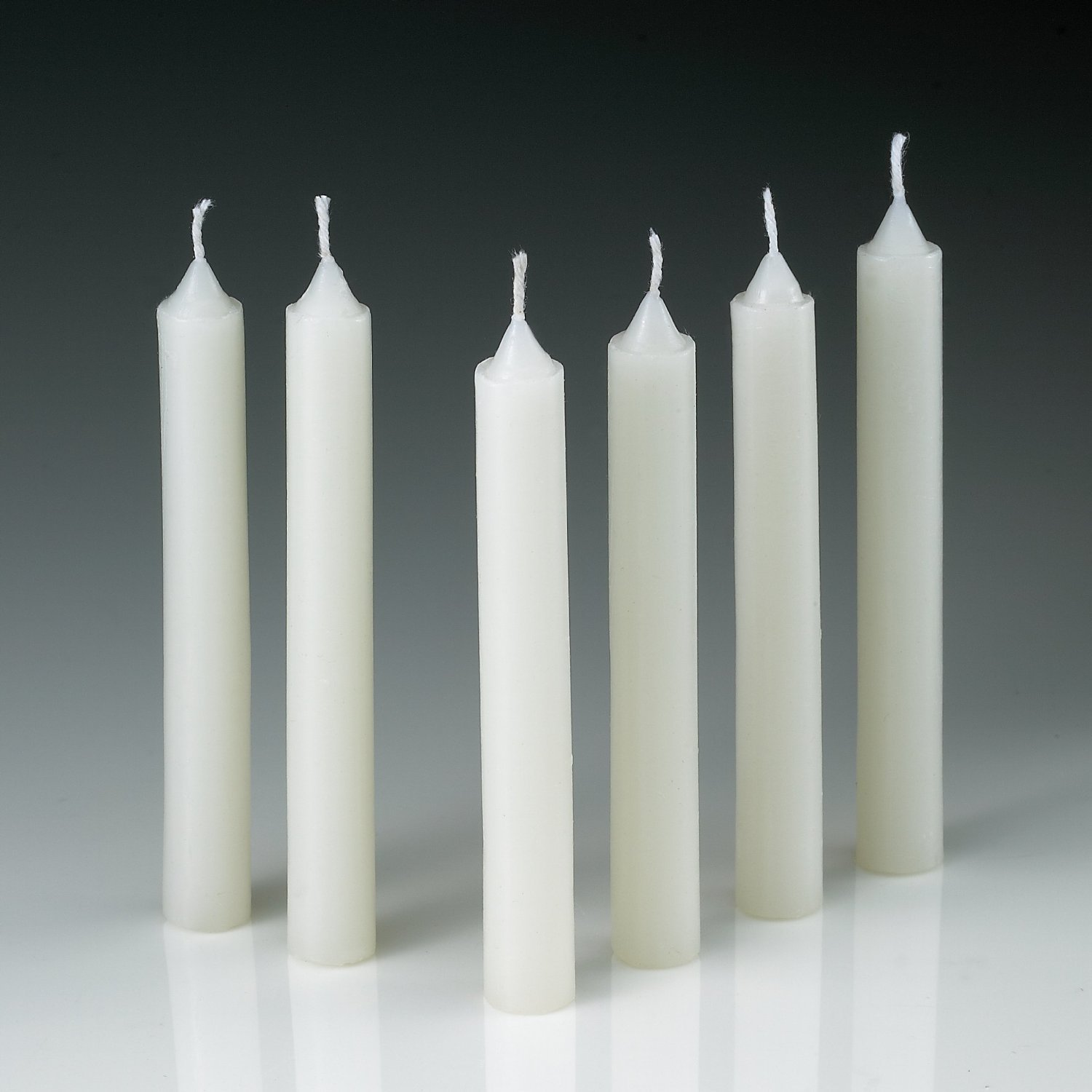 Amazon.com: White Taper Candles - Set of 60 Dripless Candles - 4 ...