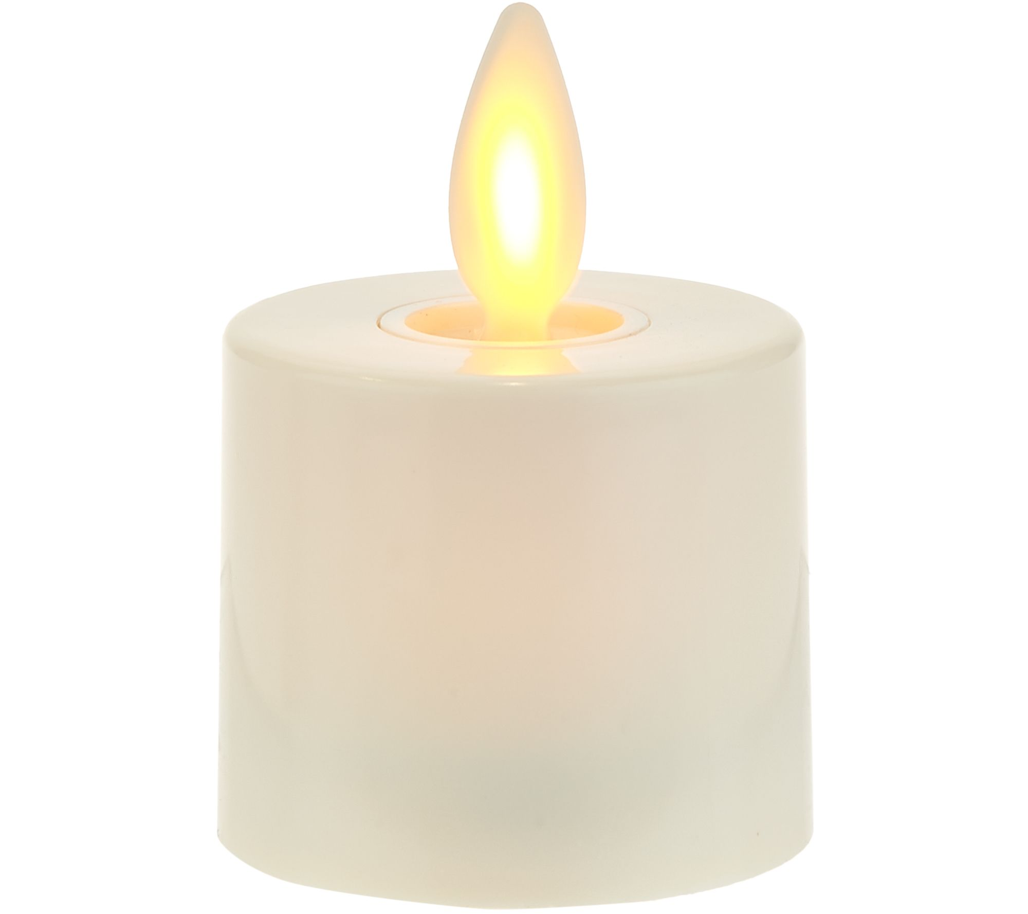 Luminara S/3 Blown Glass Ornaments with Flameless Tealight Candle ...