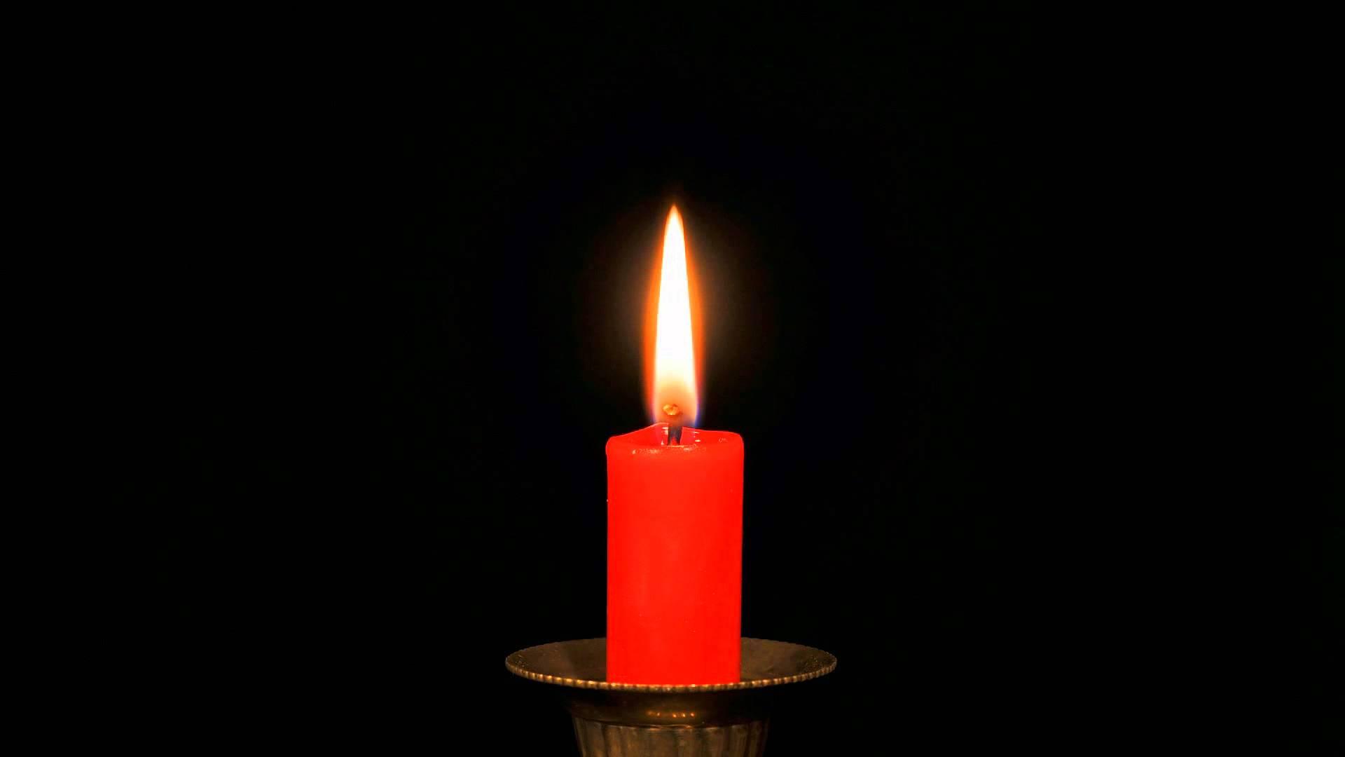 Burning candle, time-lapse - YouTube