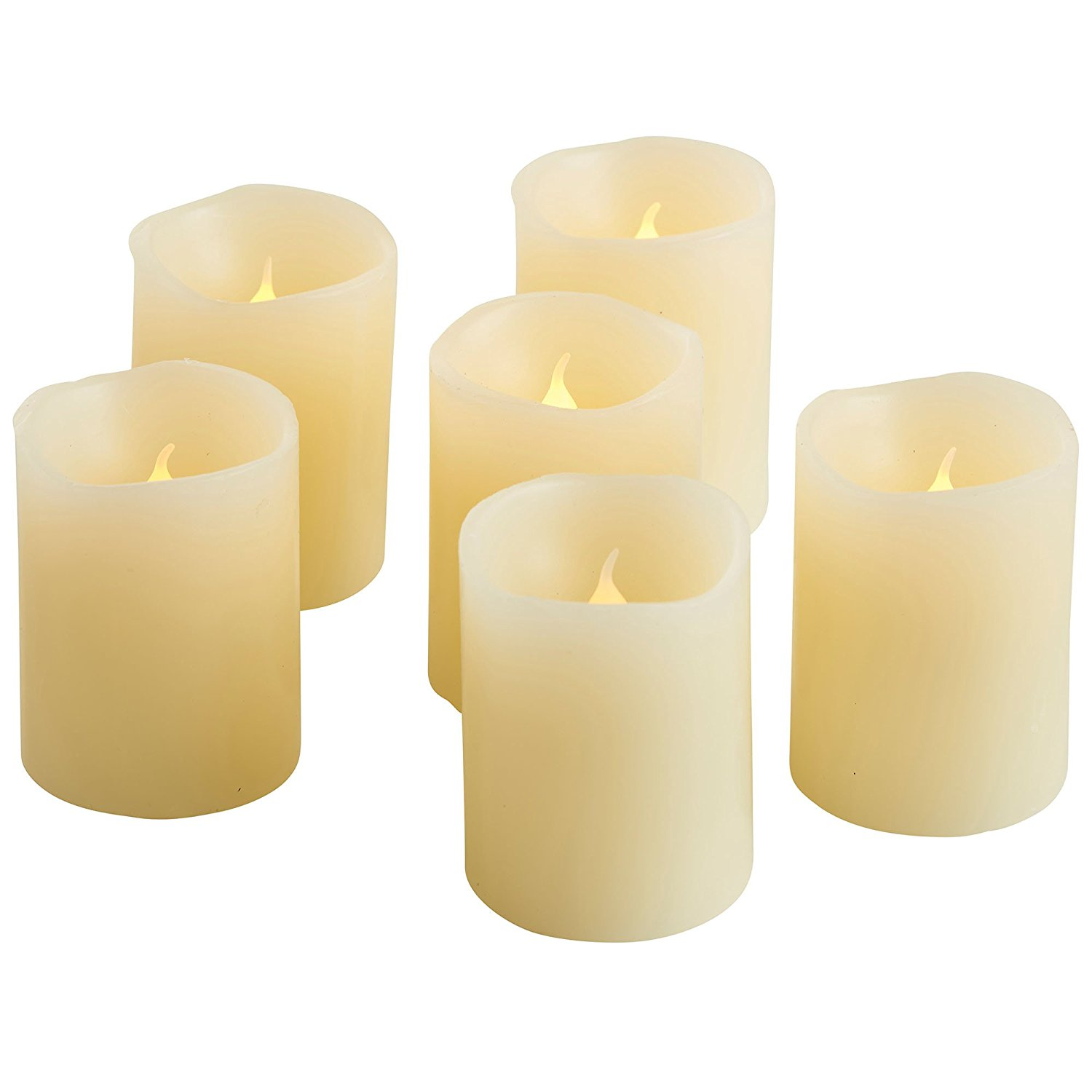 Amazon.com: VonHaus 6 x Blow Out LED Flameless Candles - Real Wax ...