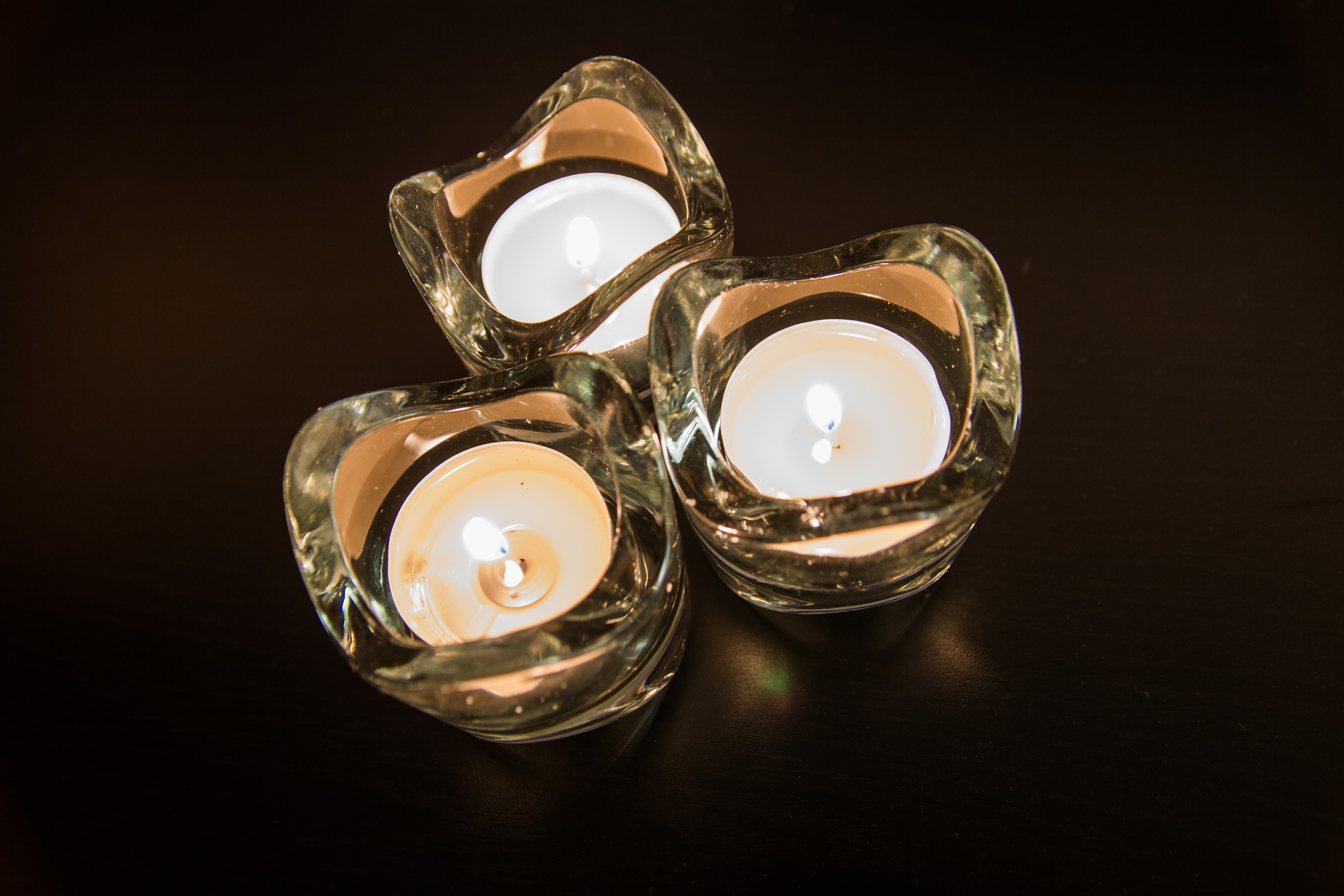 Candles at night, Atmosphere, Black background, Candle, Candles, HQ Photo