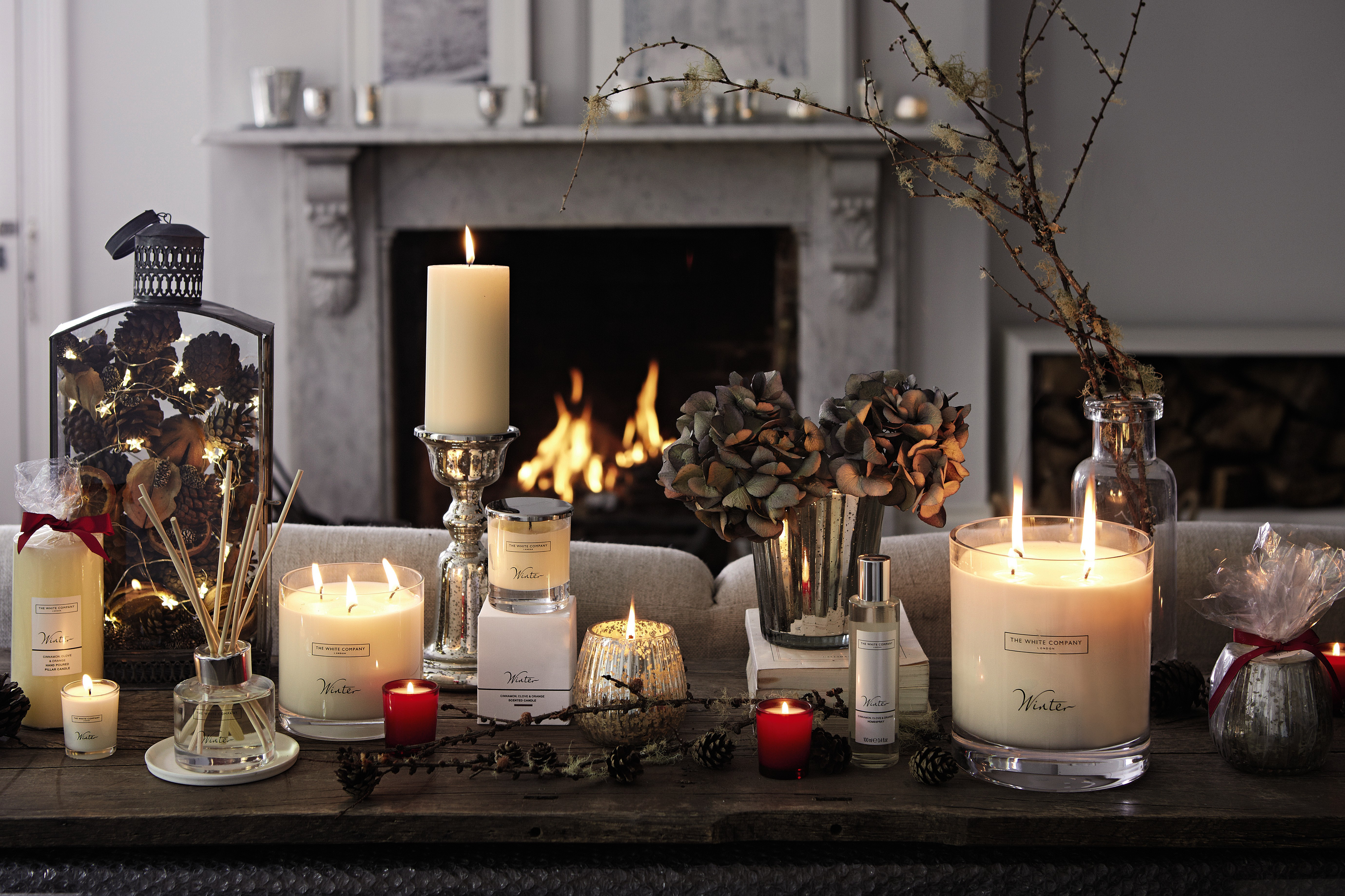 Candles in winter photo