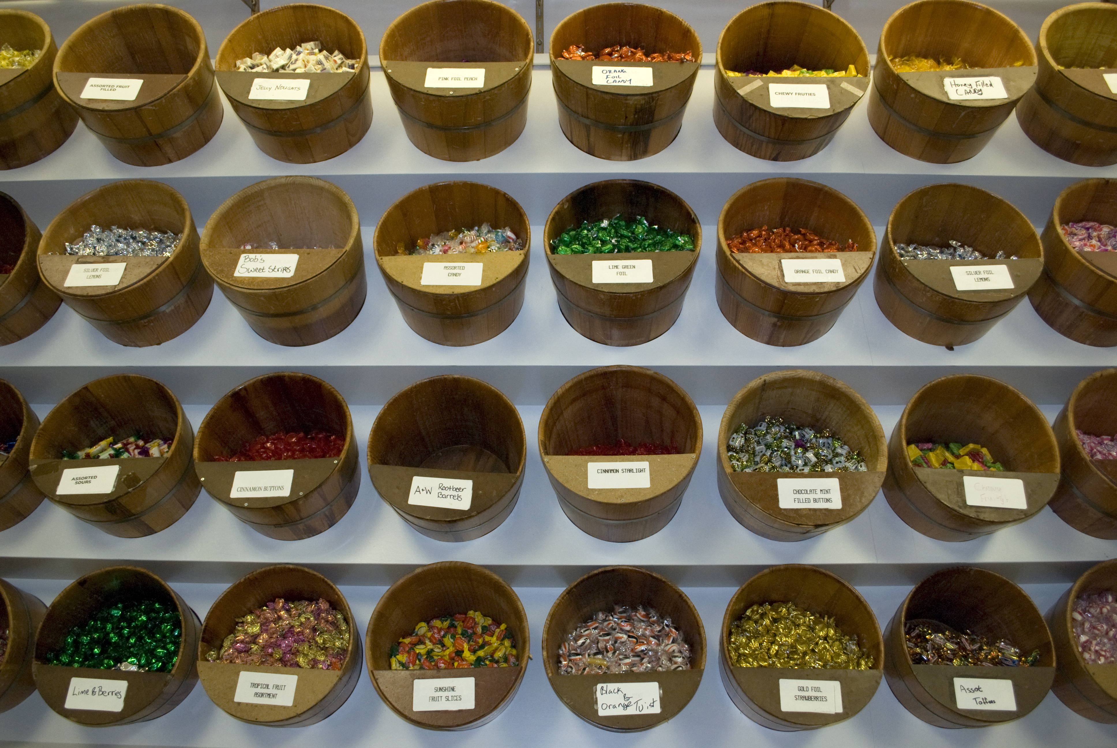Candy Store, Candy, Containers, Display, Rack, HQ Photo