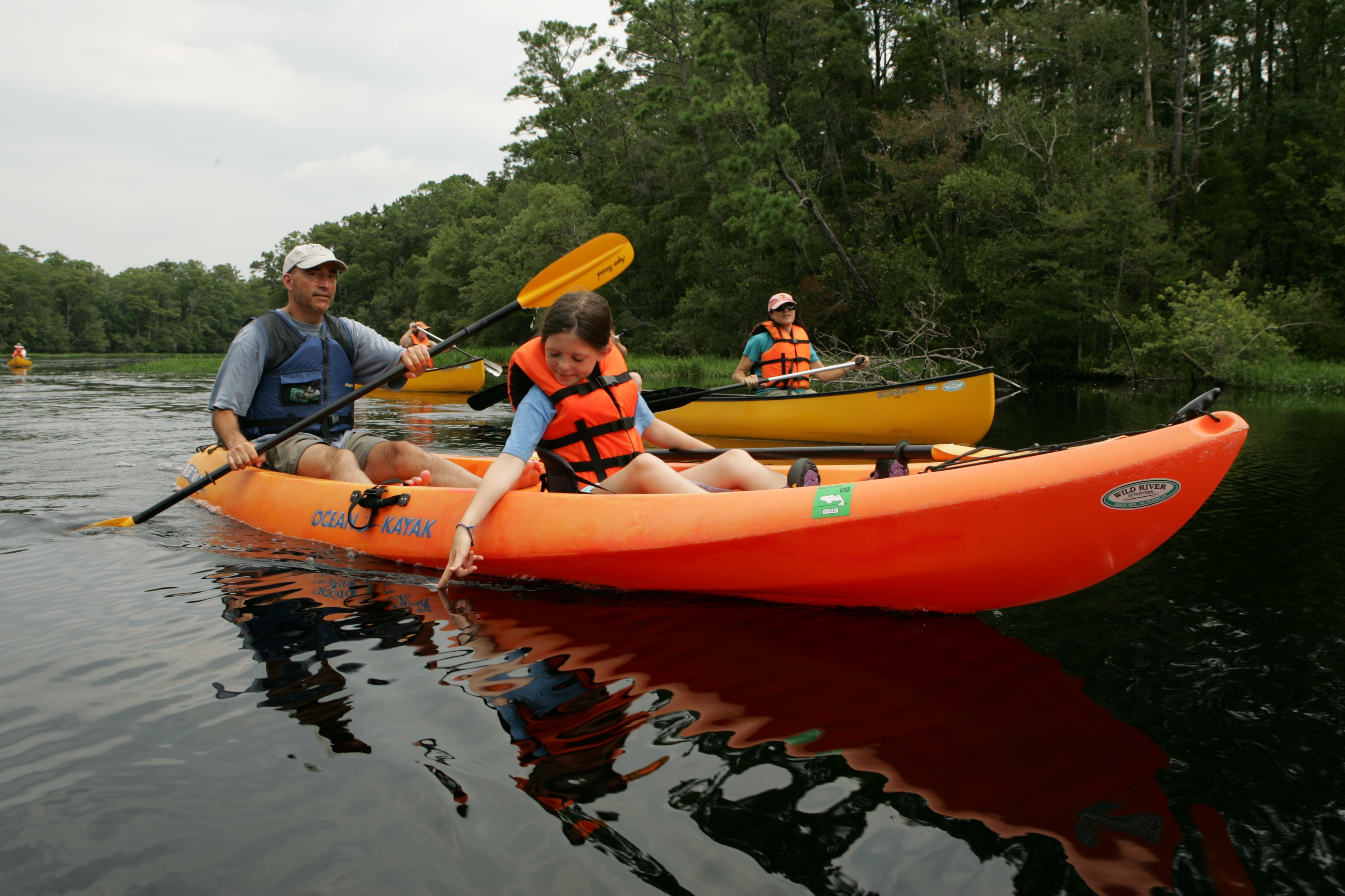 Canoeing in the river photo