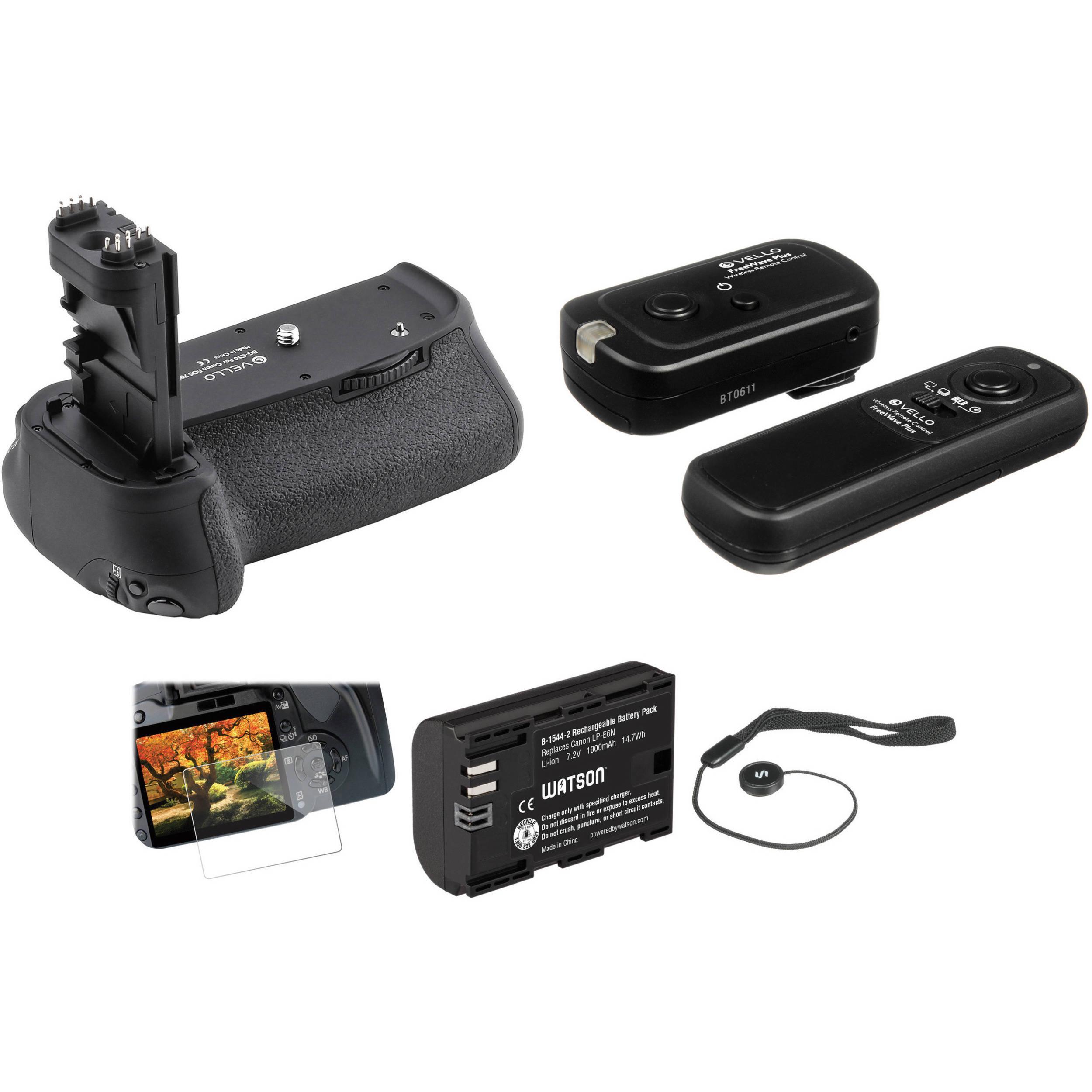 Vello Accessory Kit for Canon 70D & 80D DSLR Camera B&H