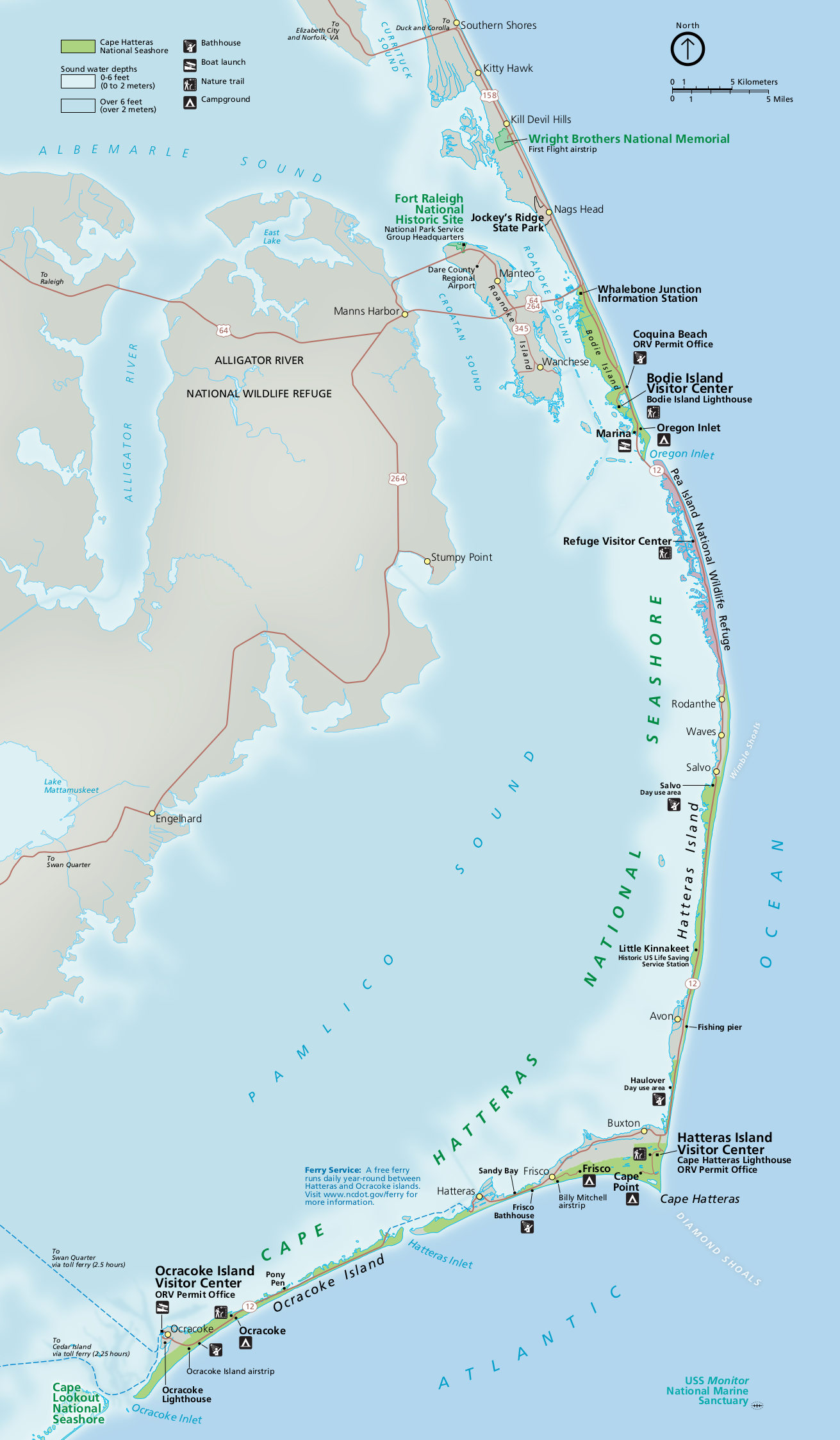 Cape Hatteras Maps | NPMaps.com - just free maps, period.