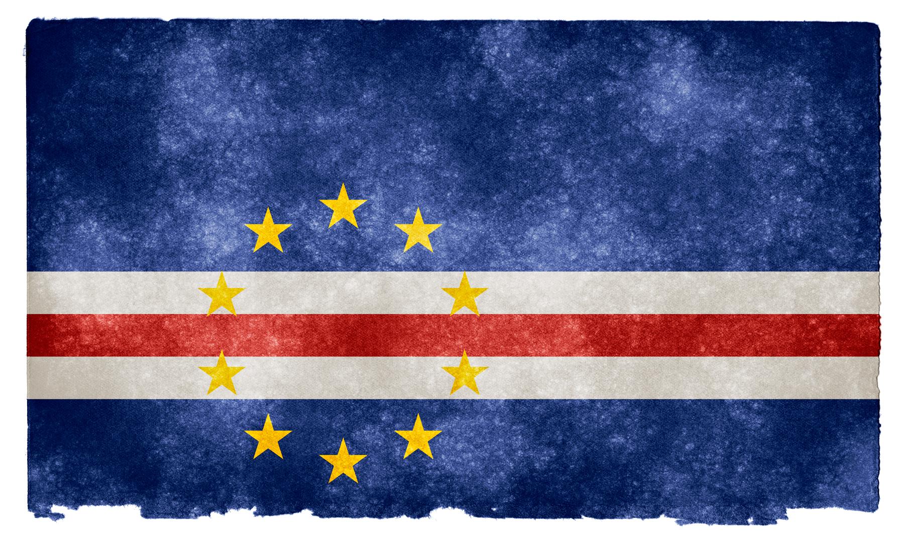 Cape verde grunge flag photo