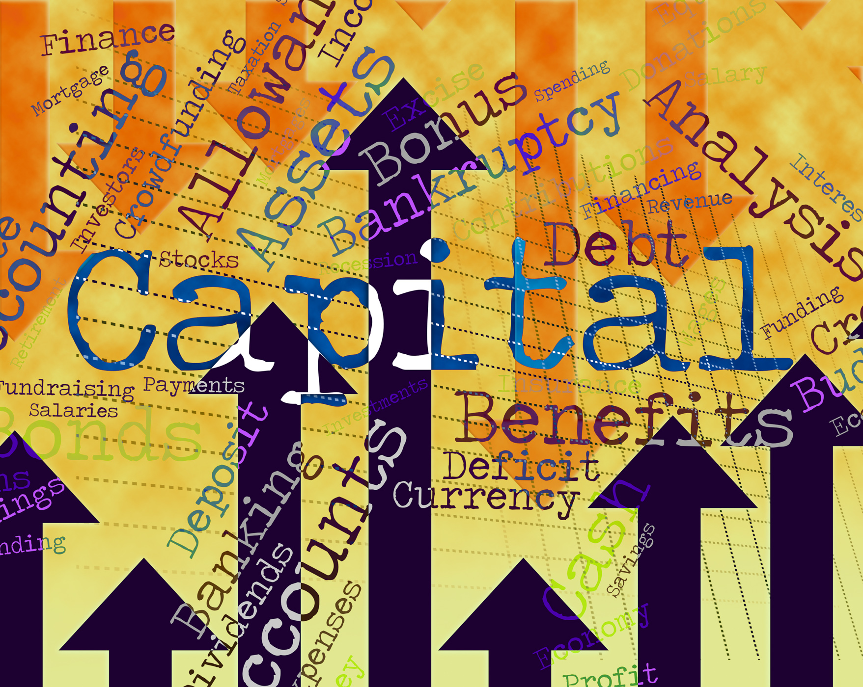Capital Word Shows Fund Funding And Wordcloud, Affluence, Resources, Words, Wordcloud, HQ Photo
