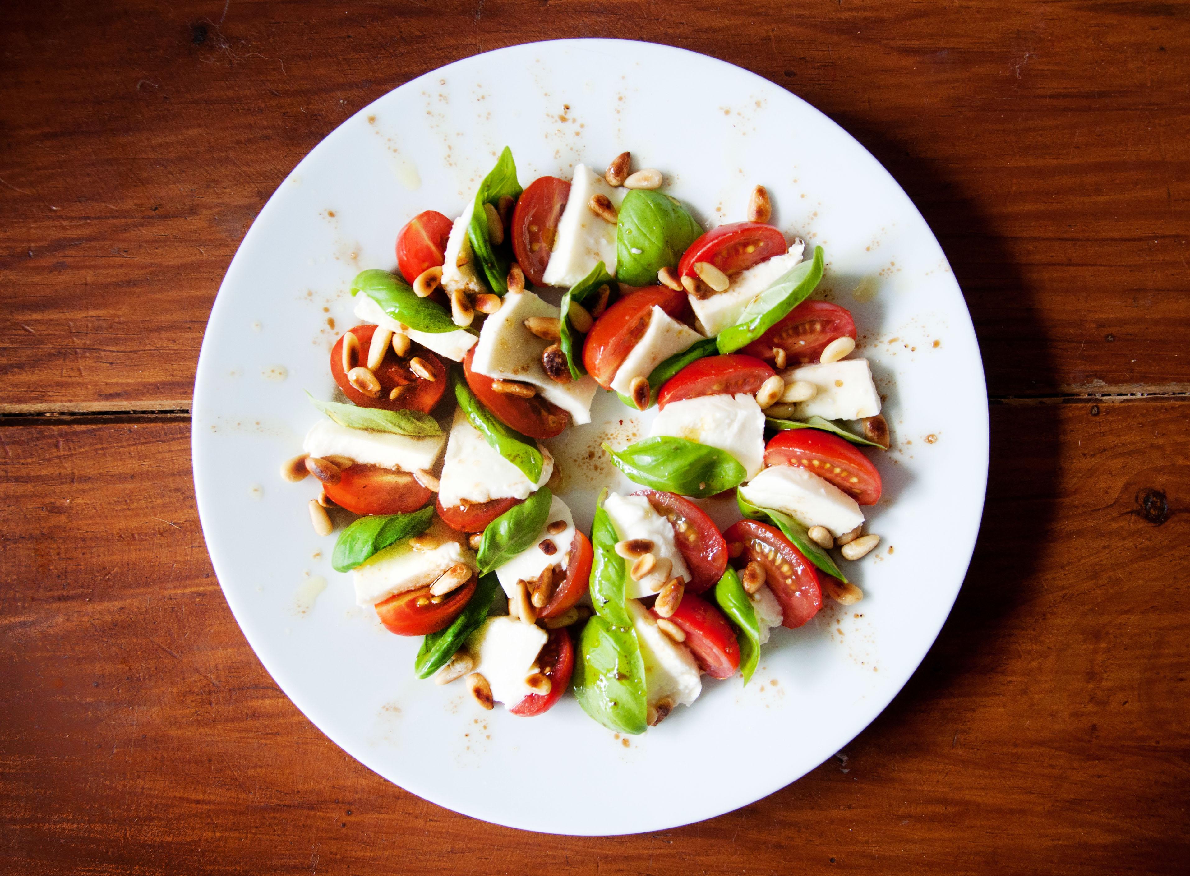 Caprese tomato mozzarella salad photo