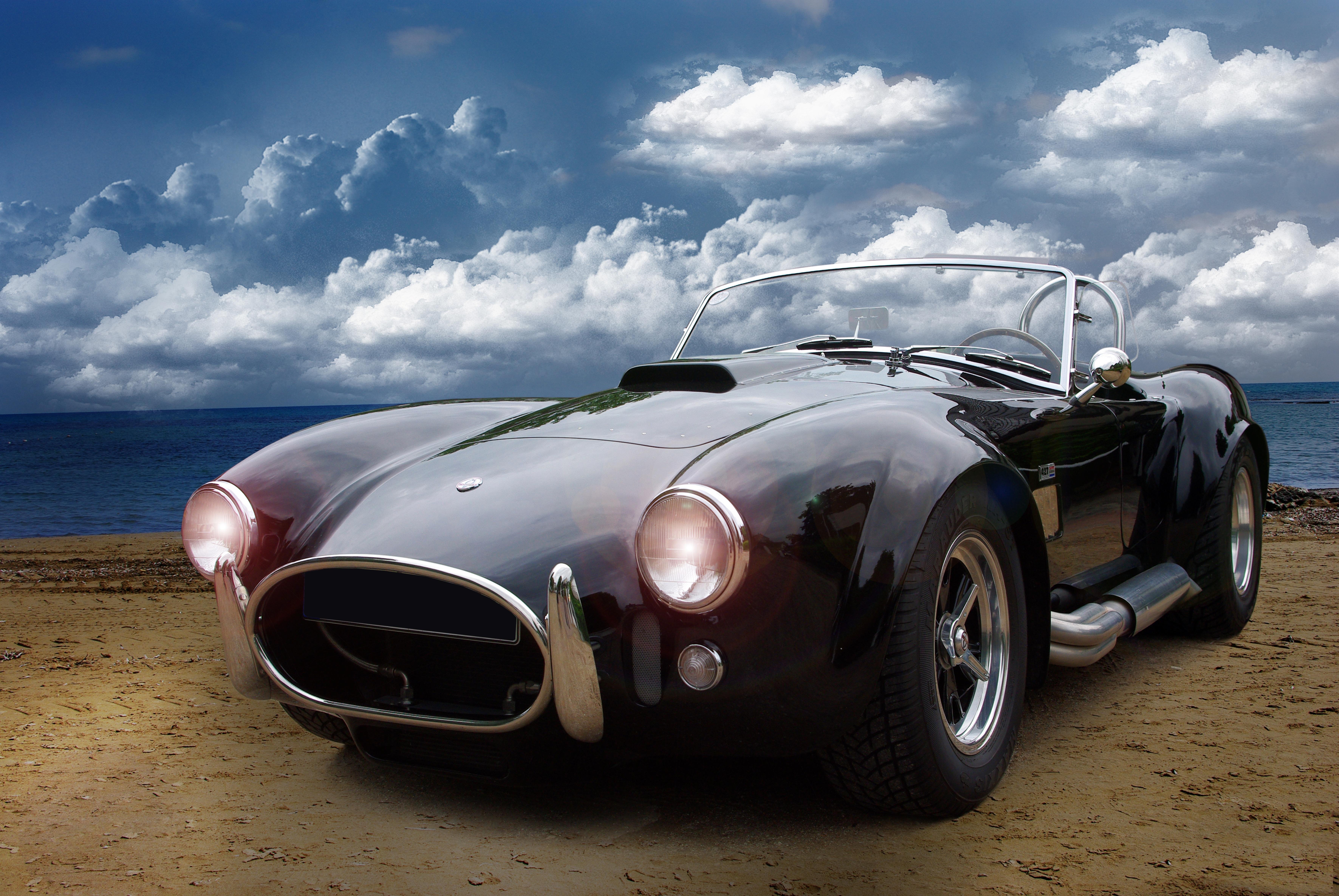Car, Black, Classic, HQ Photo