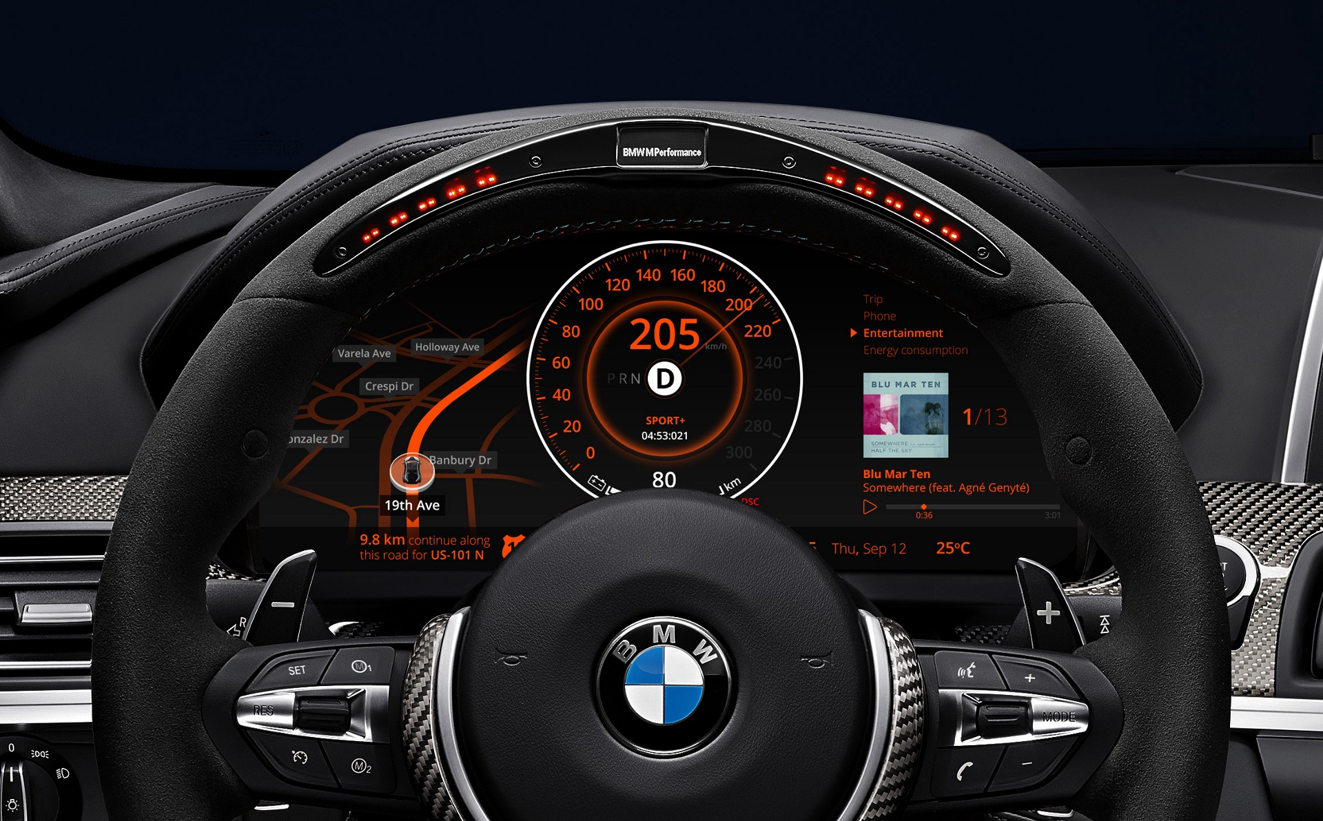 Modern car dashboard photo