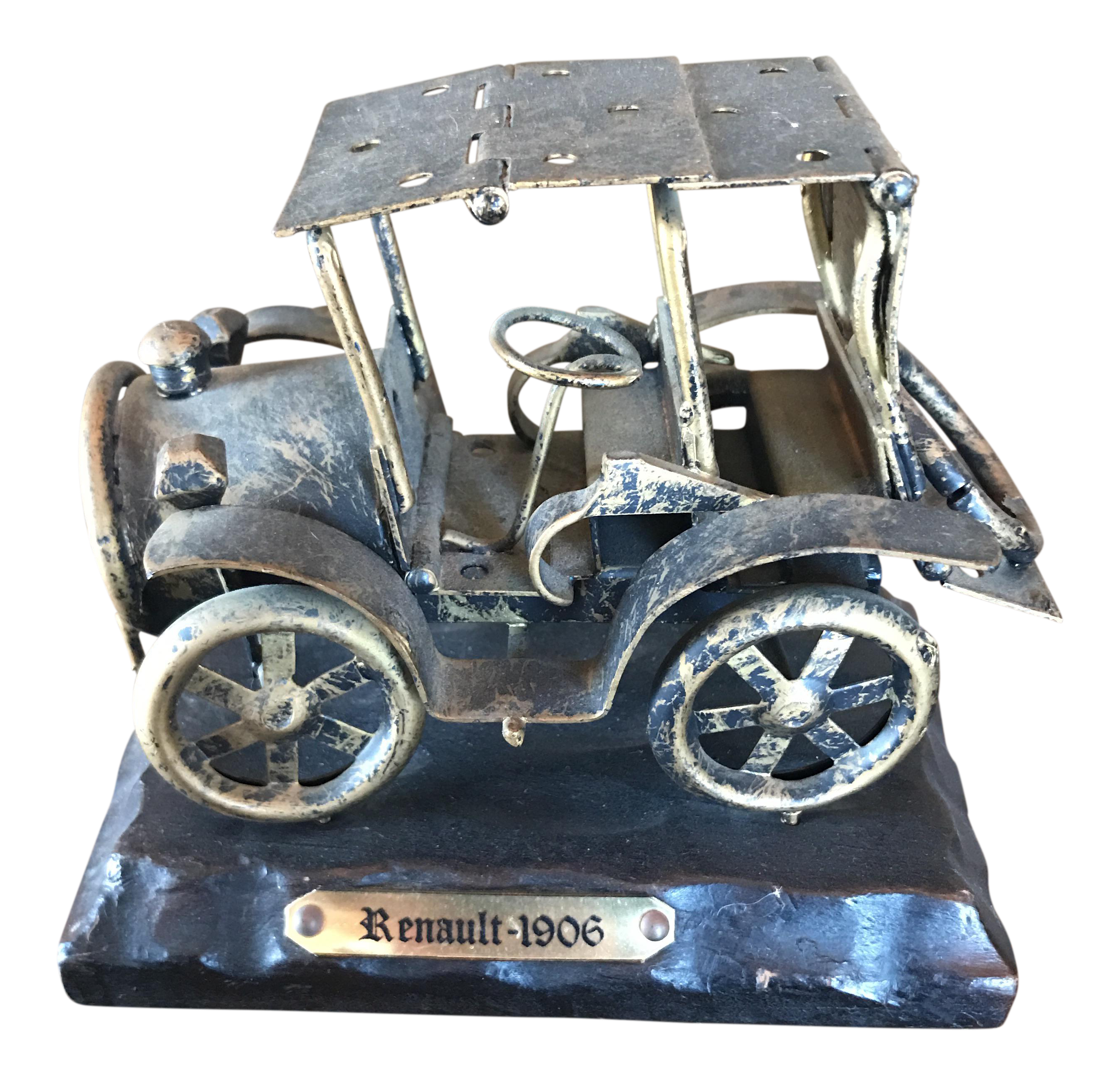 Vintage Renault Car Figurine | Chairish