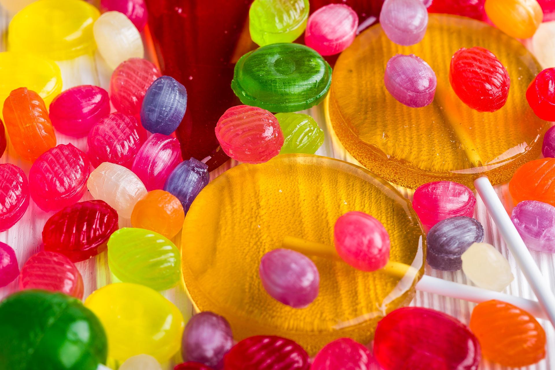 Caramel candies photo