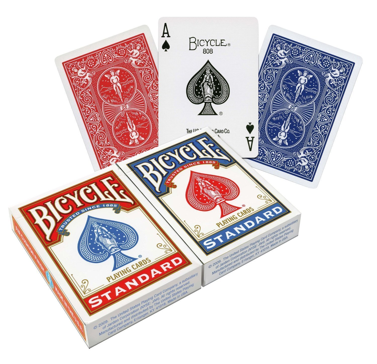 Amazon.com: Bicycle Standard Index Playing Cards 1 Deck, Colors may ...