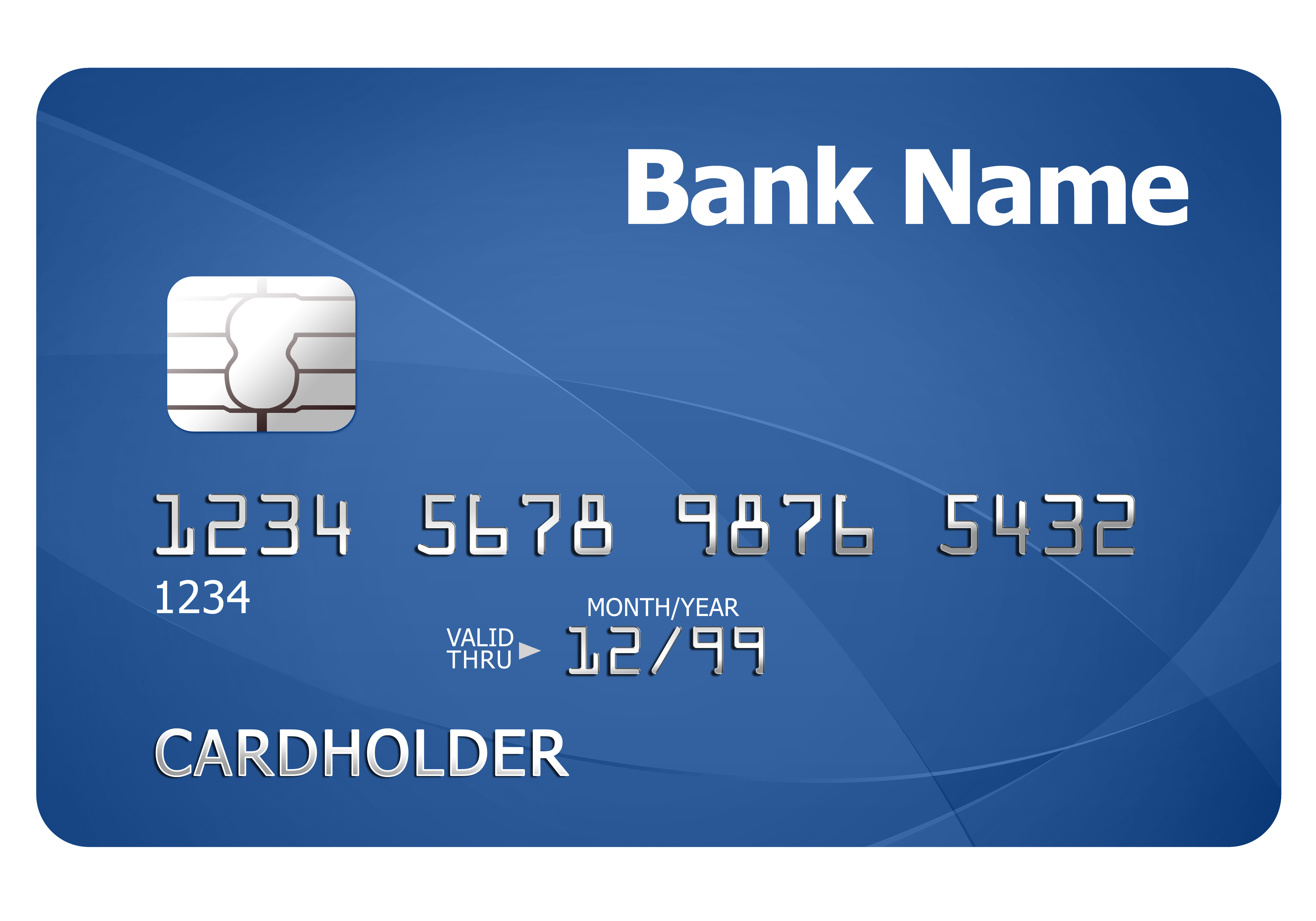 Credit card template | PSDGraphics