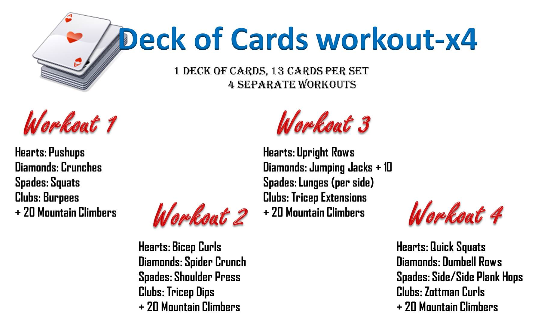 deck of cards workout | krhtoday