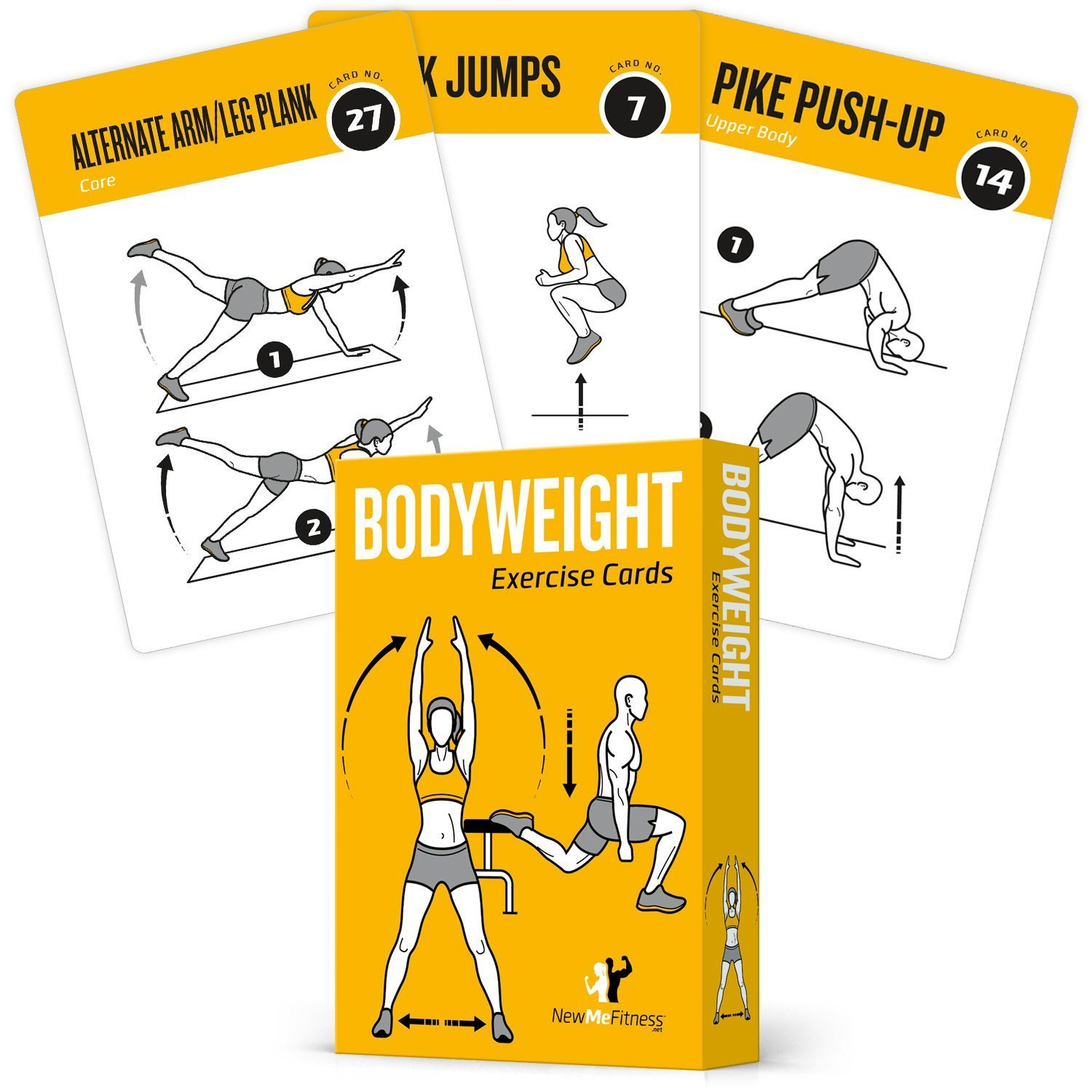 Amazon.com : EXERCISE CARDS BODYWEIGHT - Home Gym Workout Personal ...