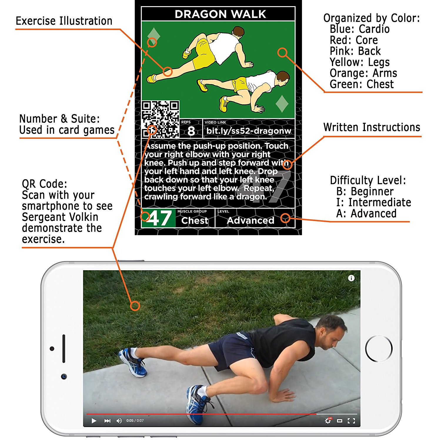 Amazon.com : Stack 52 Exercise Cards: Strength Bodyweight Workout ...